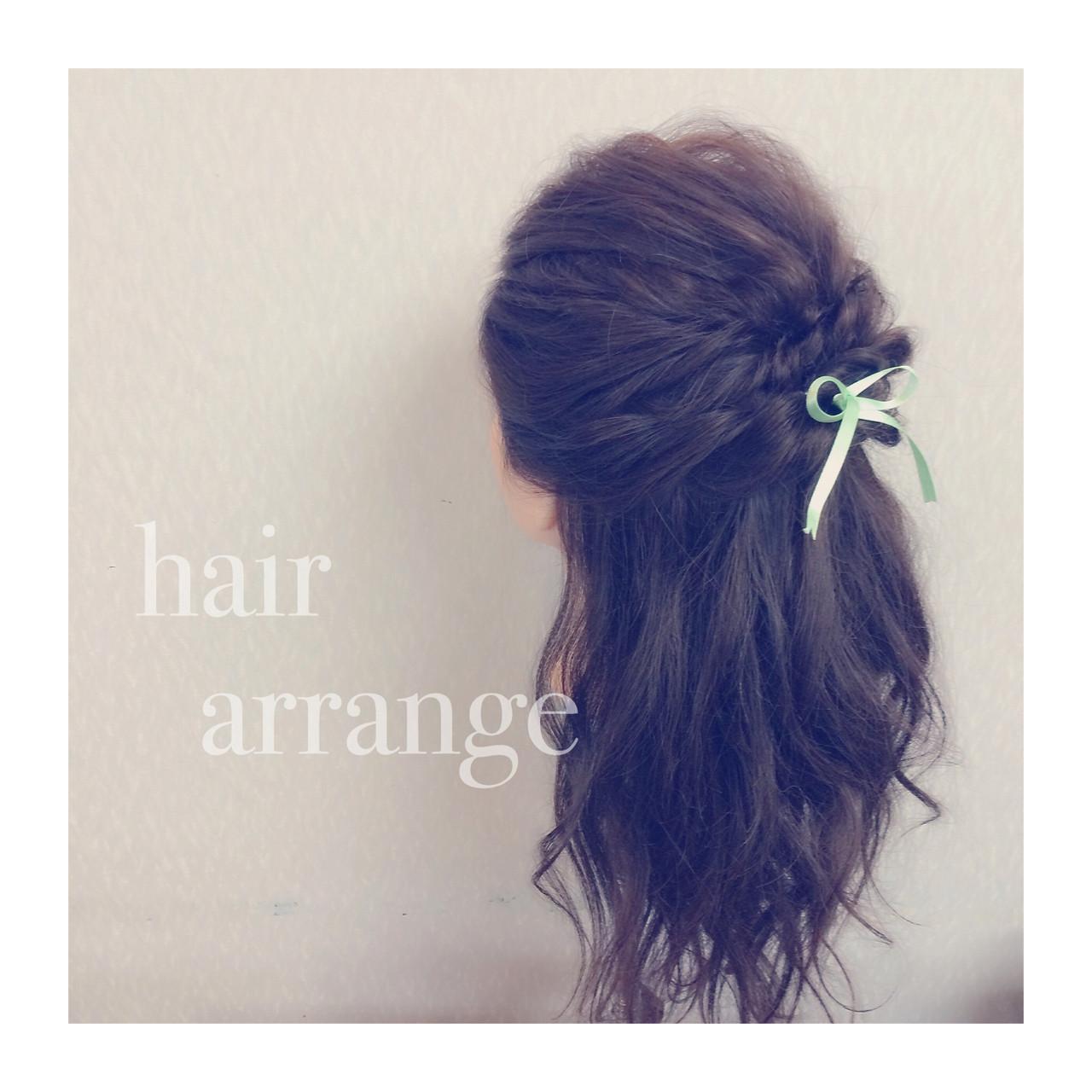 簡単ヘアアレンジ ゆるふわ ショート フェミニン ヘアスタイルや髪型の写真・画像 | ヤマナカサトル / DIOR of Hair