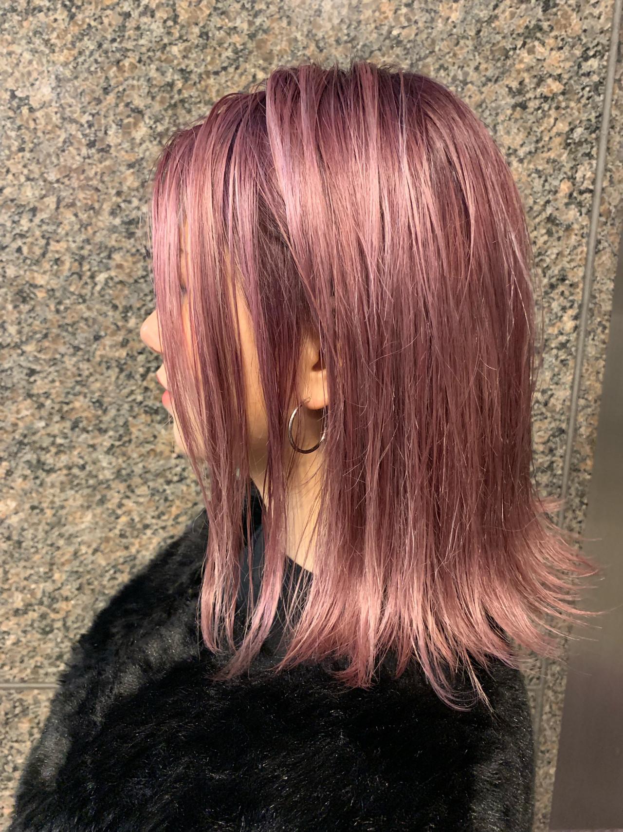 ピンクアッシュ グラデーションカラー コリアンピンク ピンク ヘアスタイルや髪型の写真・画像 | 望月 宣雄/virgo&Ashera / virgo&Ashera