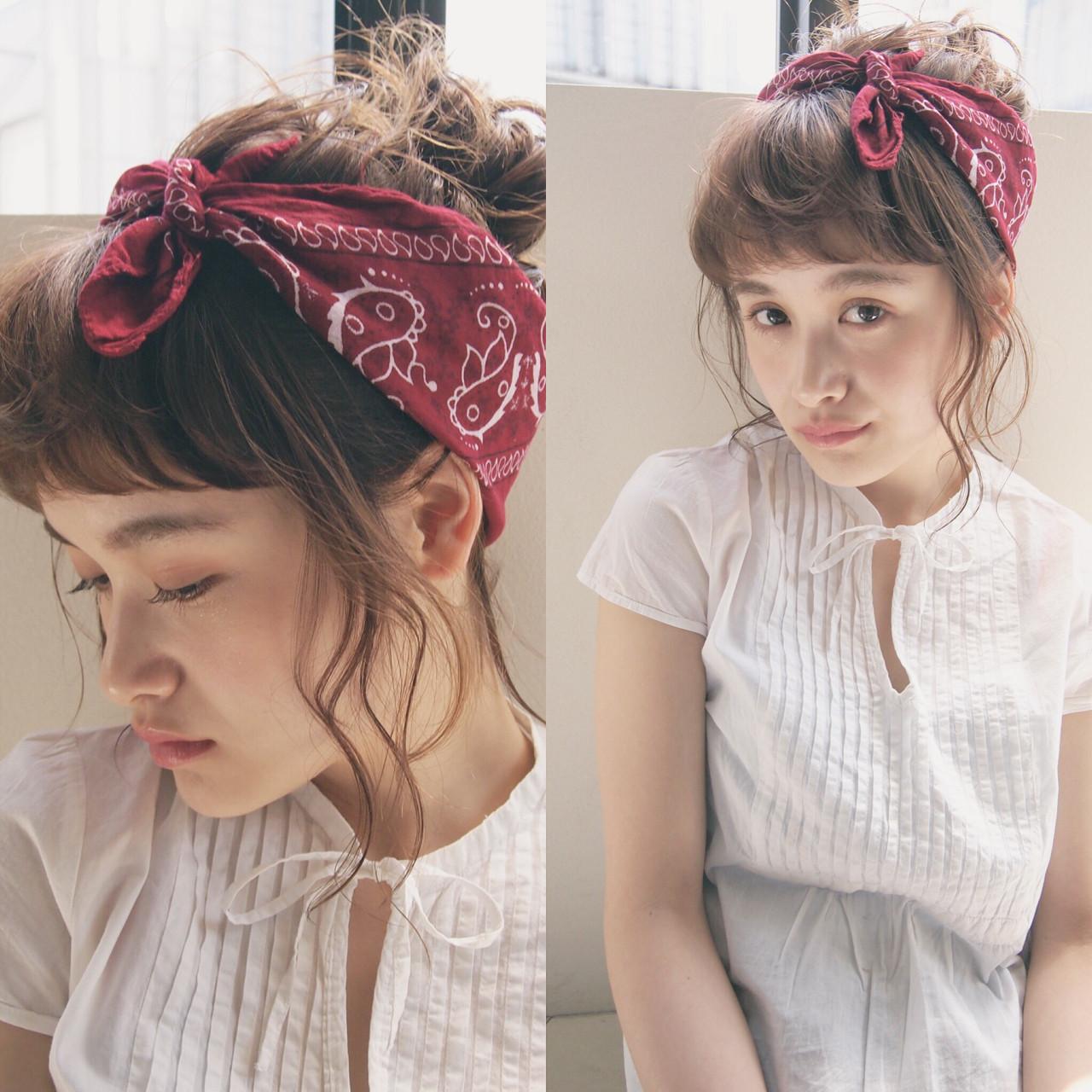 ミディアム 簡単ヘアアレンジ ヘアアレンジ ショート ヘアスタイルや髪型の写真・画像   UEKI/nanuk / nanuk二子玉川
