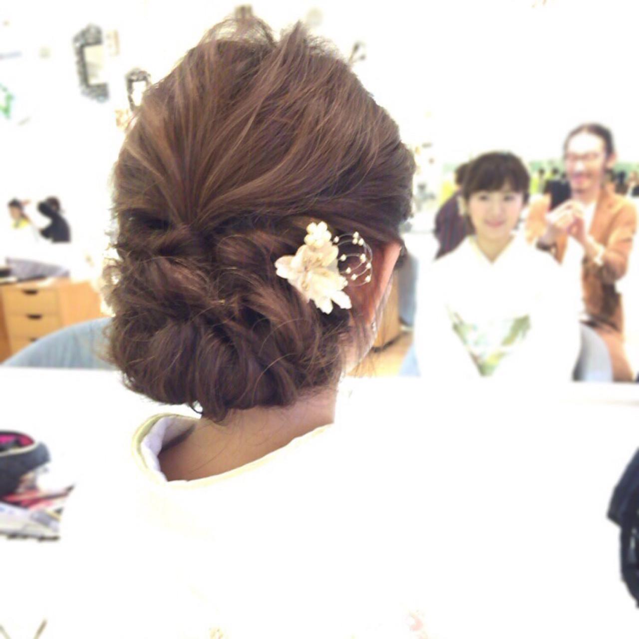 パーティ 結婚式 セミロング エレガント ヘアスタイルや髪型の写真・画像 | イマムラ スナオ / LUKE