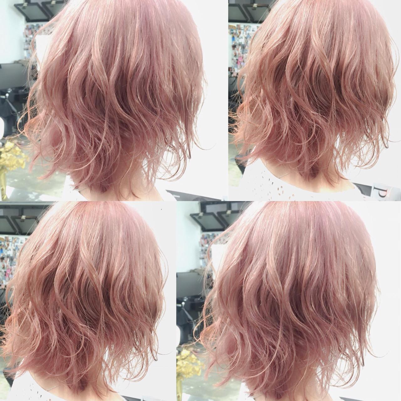 大人かわいい ゆるふわ 外国人風 ボブ ヘアスタイルや髪型の写真・画像 | MOTAI / Wille / Wille