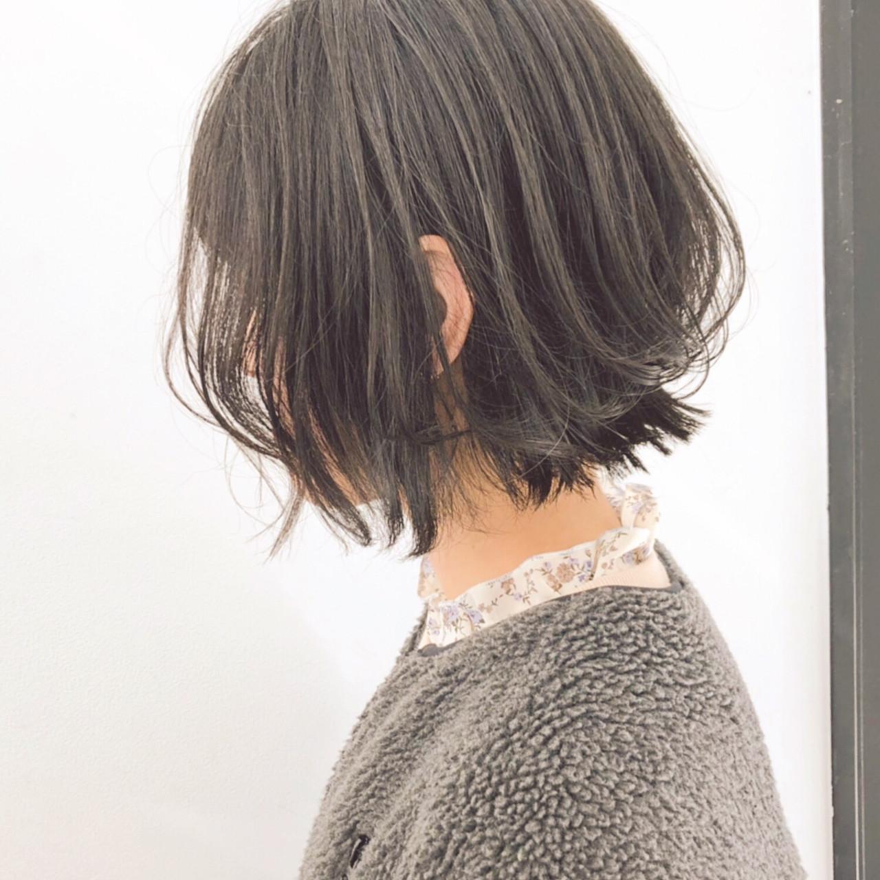 ボブ パーマ デート ヘアアレンジ ヘアスタイルや髪型の写真・画像   『ボブ美容師』永田邦彦 表参道 / send by HAIR
