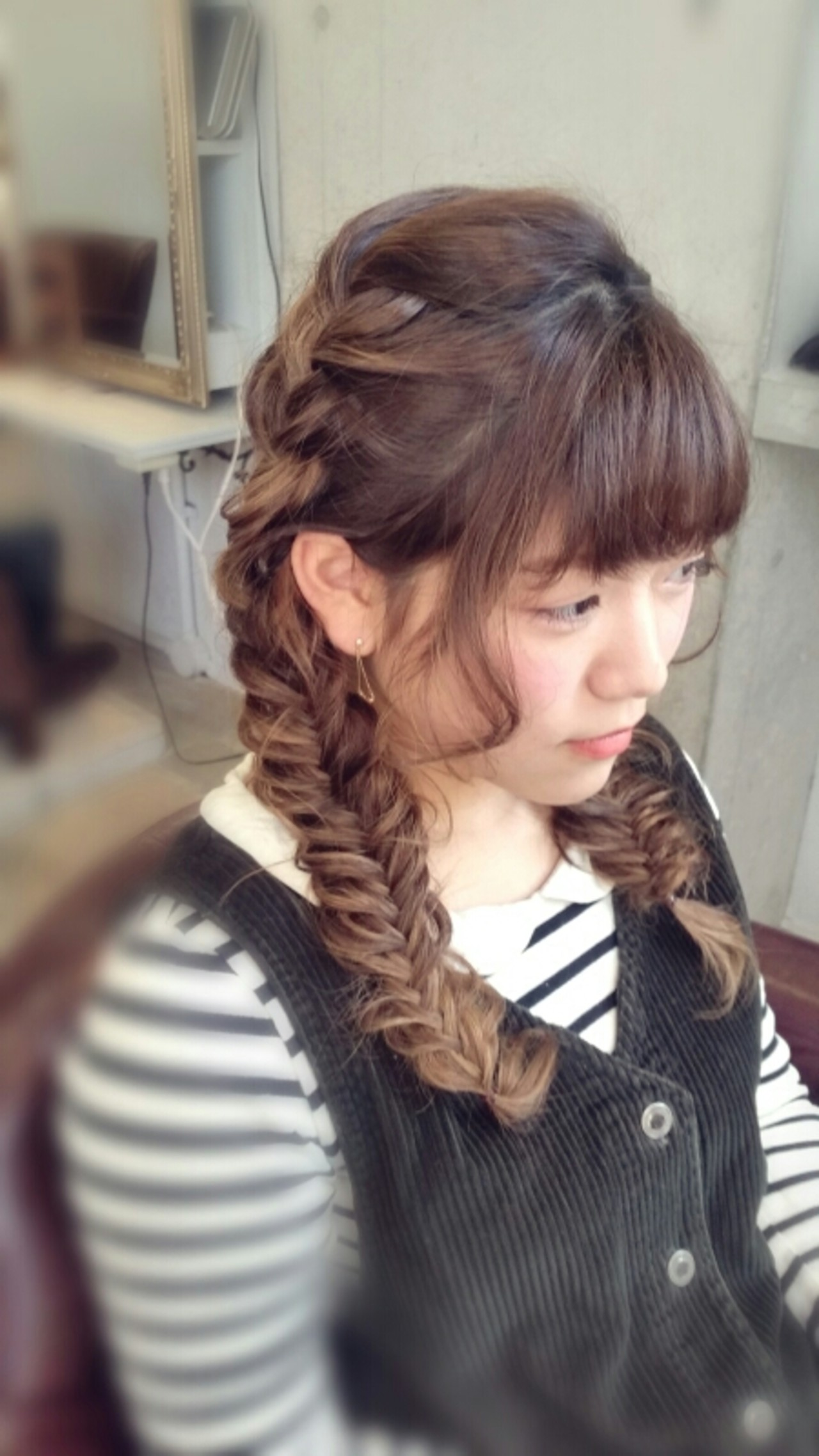 前髪・編み込み・ぱっつん