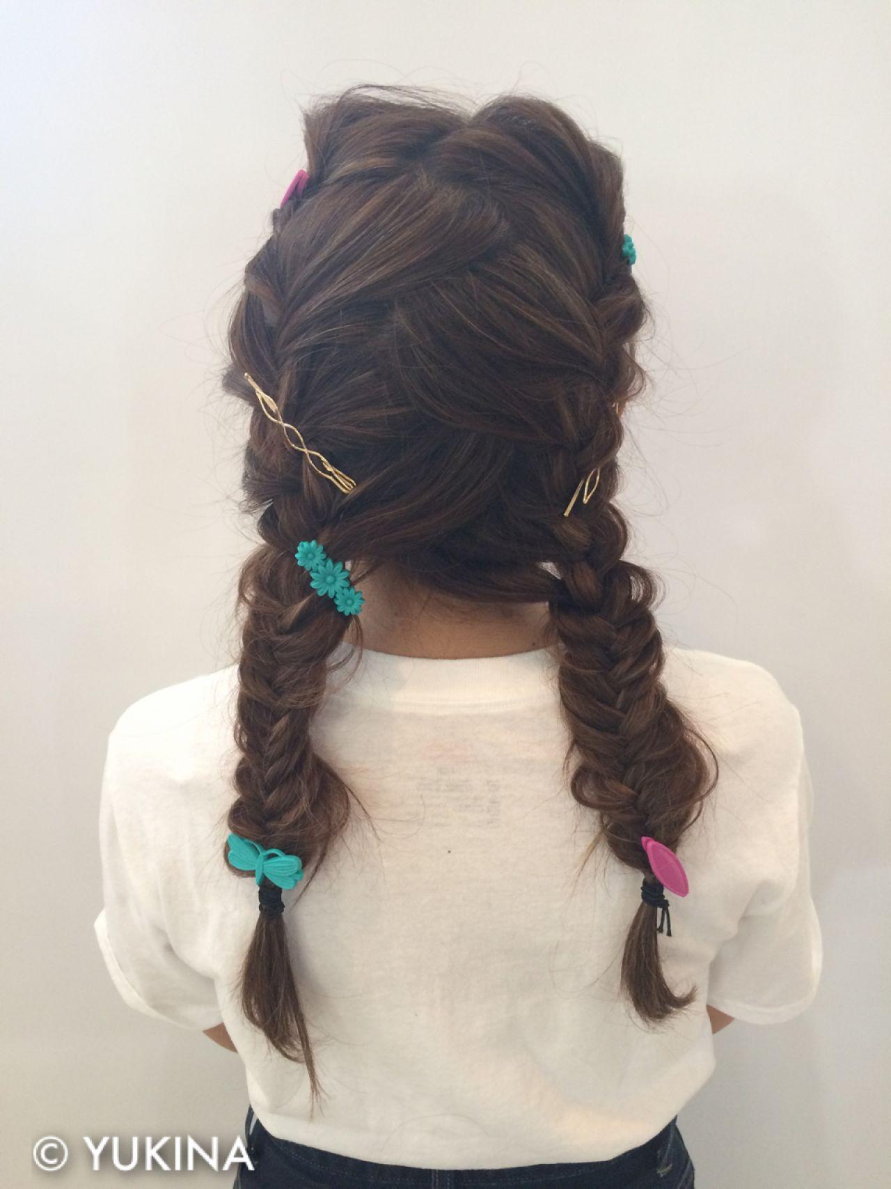 ストリート セミロング 簡単ヘアアレンジ ショート ヘアスタイルや髪型の写真・画像 | YUKINA / HOMIE TOKYO / HOMIE TOKYO