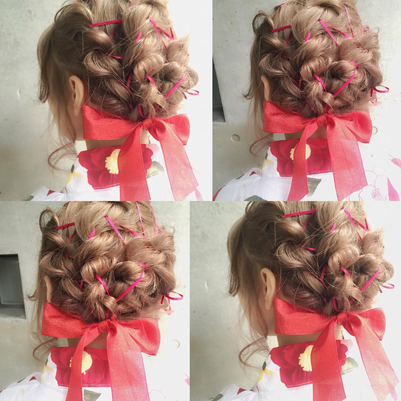 簡単ヘアアレンジ ヘアアレンジ 外国人風 ハーフアップ ヘアスタイルや髪型の写真・画像 | MOTAI / Wille / Wille