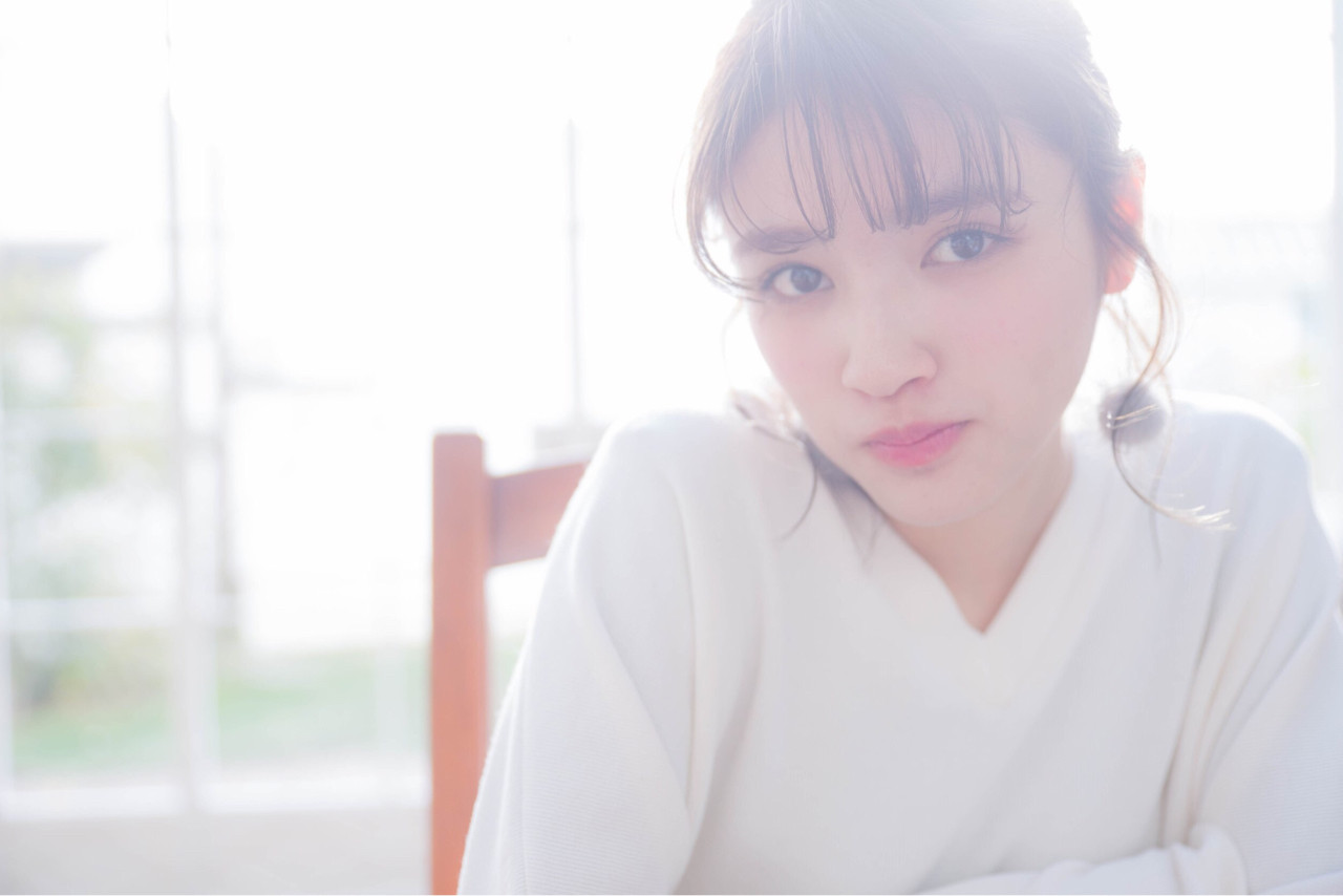 簡単ヘアアレンジ ミディアム ショート フェミニン ヘアスタイルや髪型の写真・画像 | 菅澤麻華 /