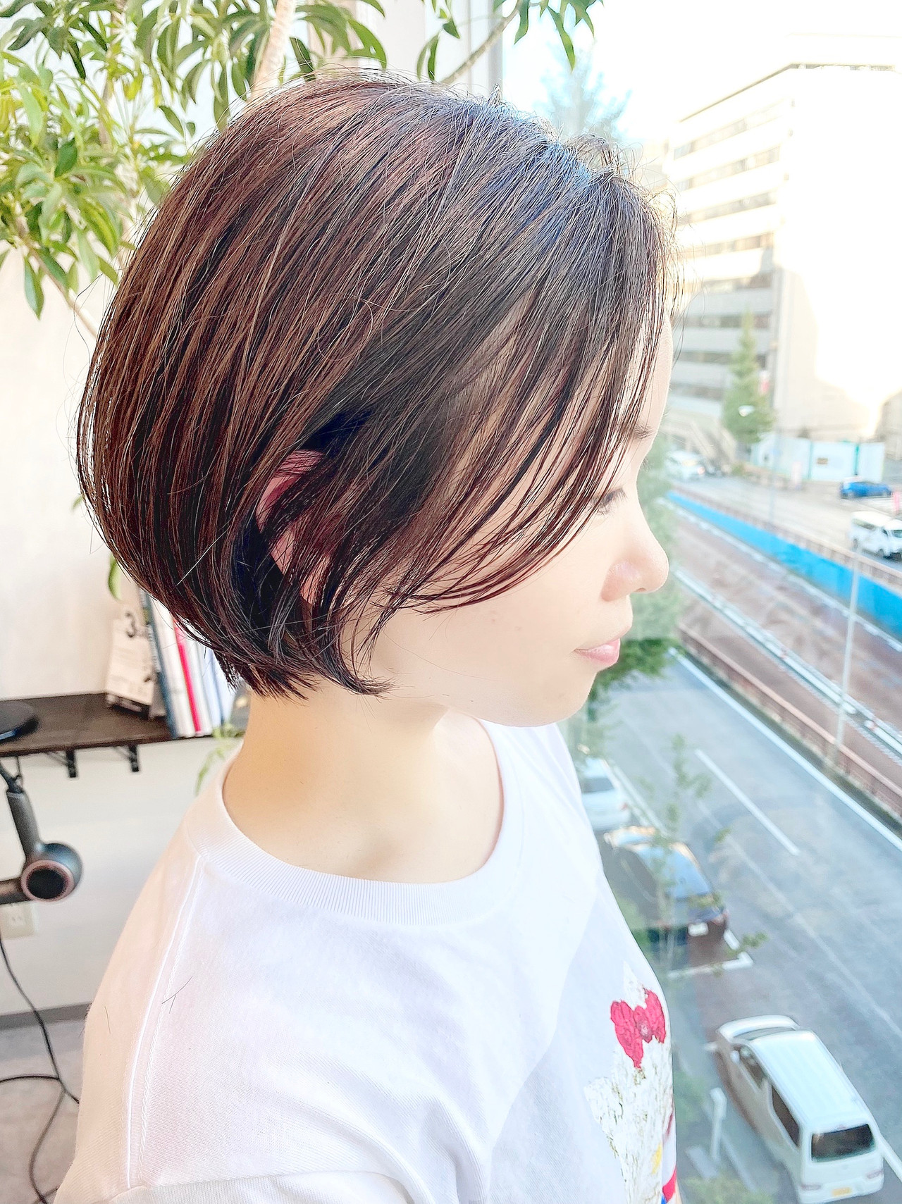 ナチュラル ショートボブ ショート ショートヘアヘアスタイルや髪型の写真・画像