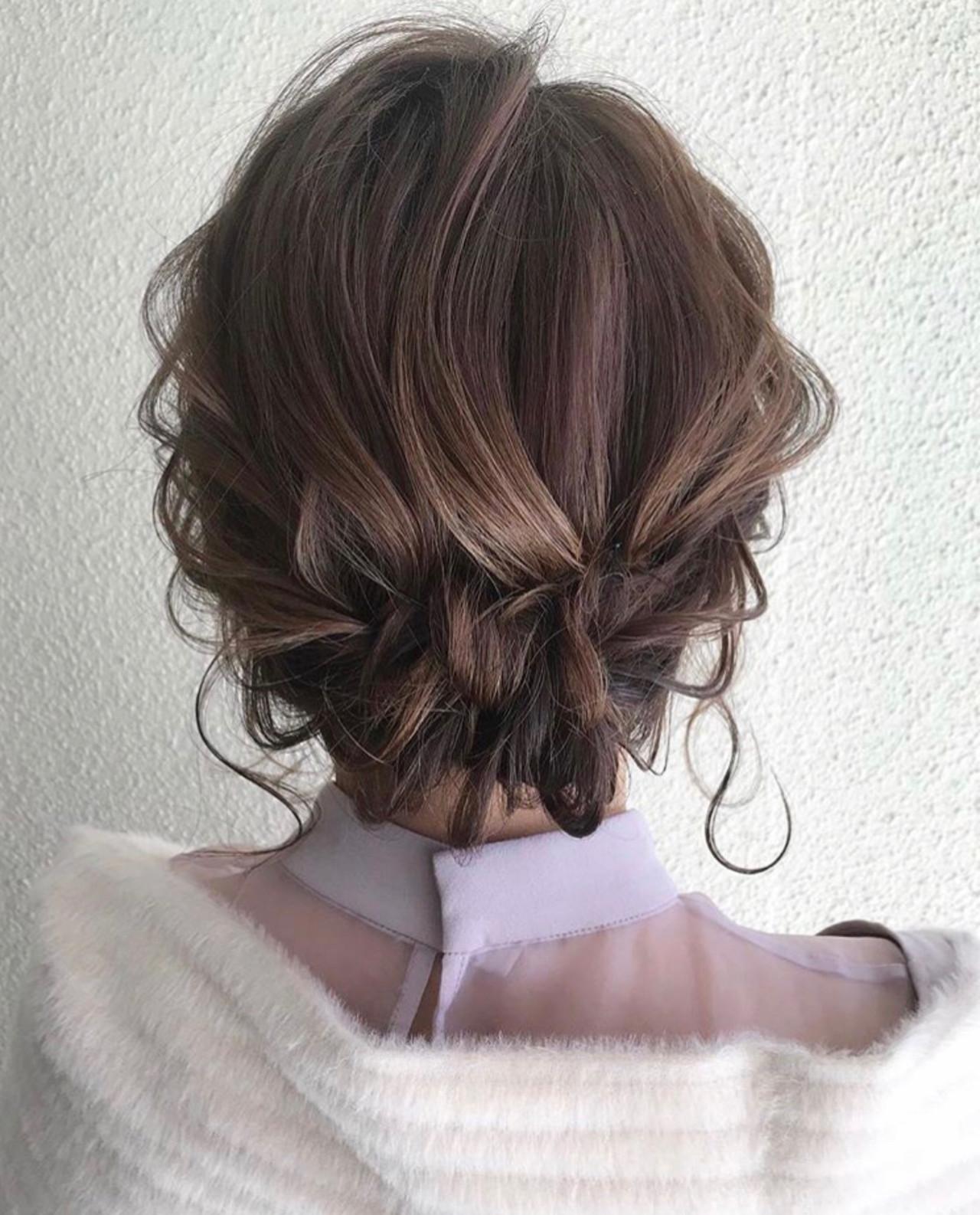 ヘアアレンジ 簡単ヘアアレンジ ボブ 黒髪 ヘアスタイルや髪型の写真・画像 | 三木 奨太 / hair set salon  IRIS