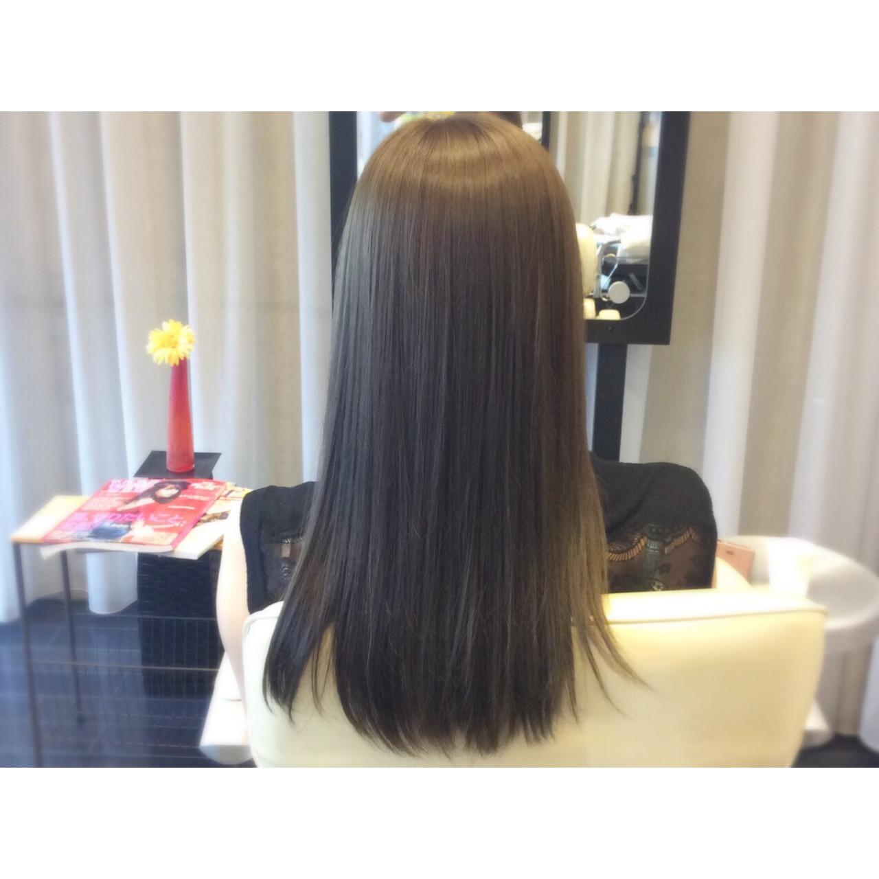 ブルージュ イルミナカラー ナチュラル 暗髪 ヘアスタイルや髪型の写真・画像 | アビル 裕貴 / ノーネームヘアー
