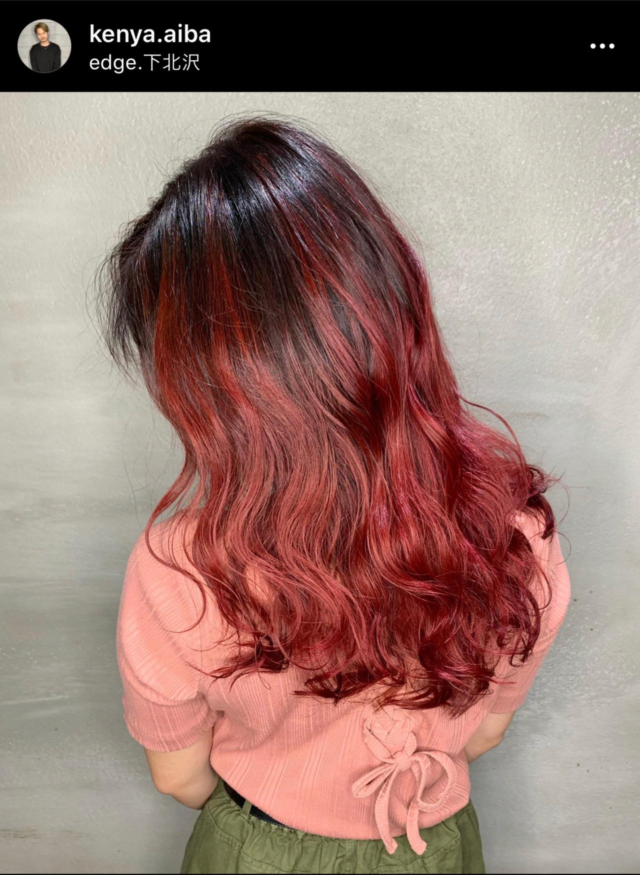 外国人風カラー セミロング バレイヤージュ エレガントヘアスタイルや髪型の写真・画像