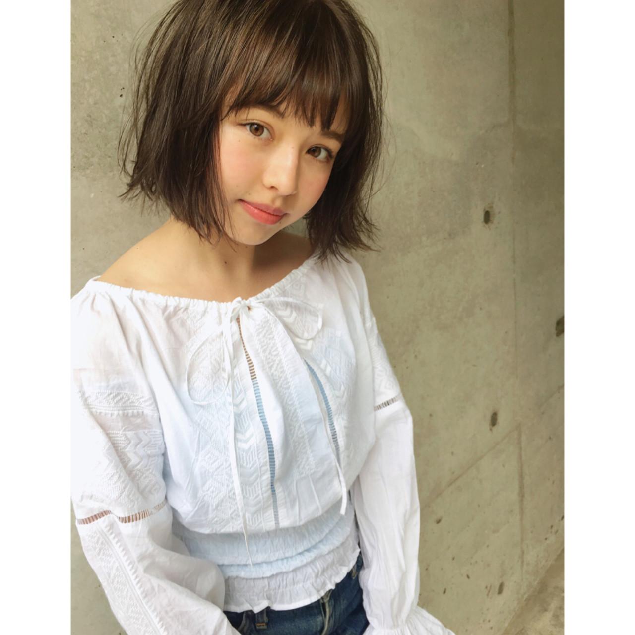 グレージュ ミルクティー 抜け感 外国人風 ヘアスタイルや髪型の写真・画像 | 中島 潮里 / whyte / whyte