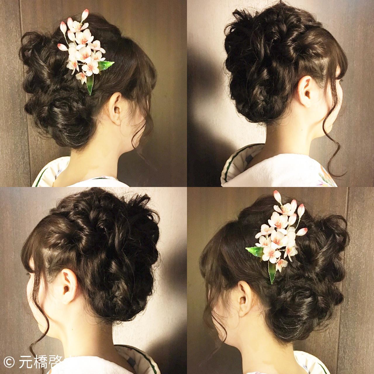こなれ感 簡単ヘアアレンジ フェミニン 小顔 ヘアスタイルや髪型の写真・画像 | 元橋啓太 / snob