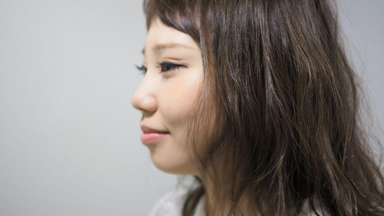 大人かわいい グラデーションカラー セミロング 外国人風 ヘアスタイルや髪型の写真・画像 | ゆるくしゃヘア * ナリタスミキ / hair salon lico