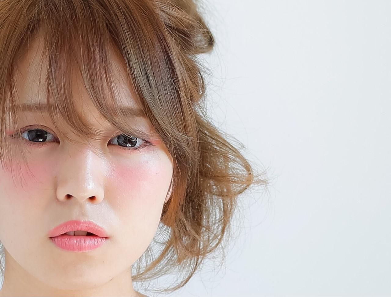 簡単ヘアアレンジ ヘアアレンジ ショート ピュア ヘアスタイルや髪型の写真・画像 | 小笠原 淳 / hair make No.8(ヘアメイクエイト)