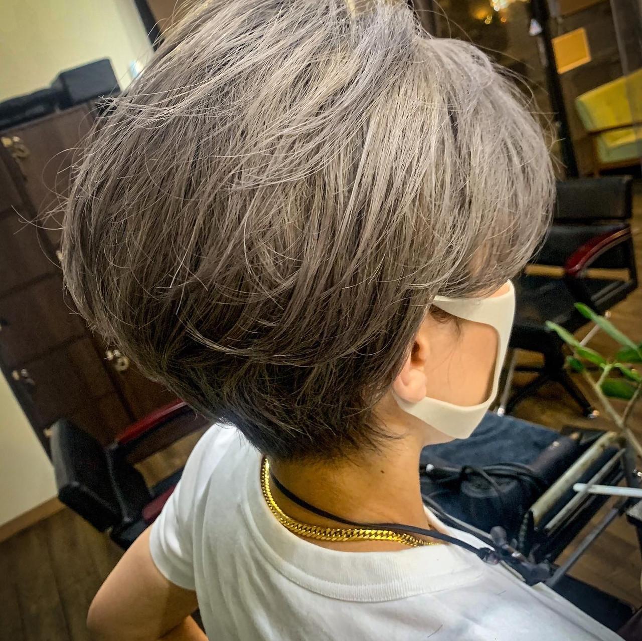 ベリーショート ハンサムショート ショートヘア ショート ヘアスタイルや髪型の写真・画像 | 川崎雄三 / 株式会社 L