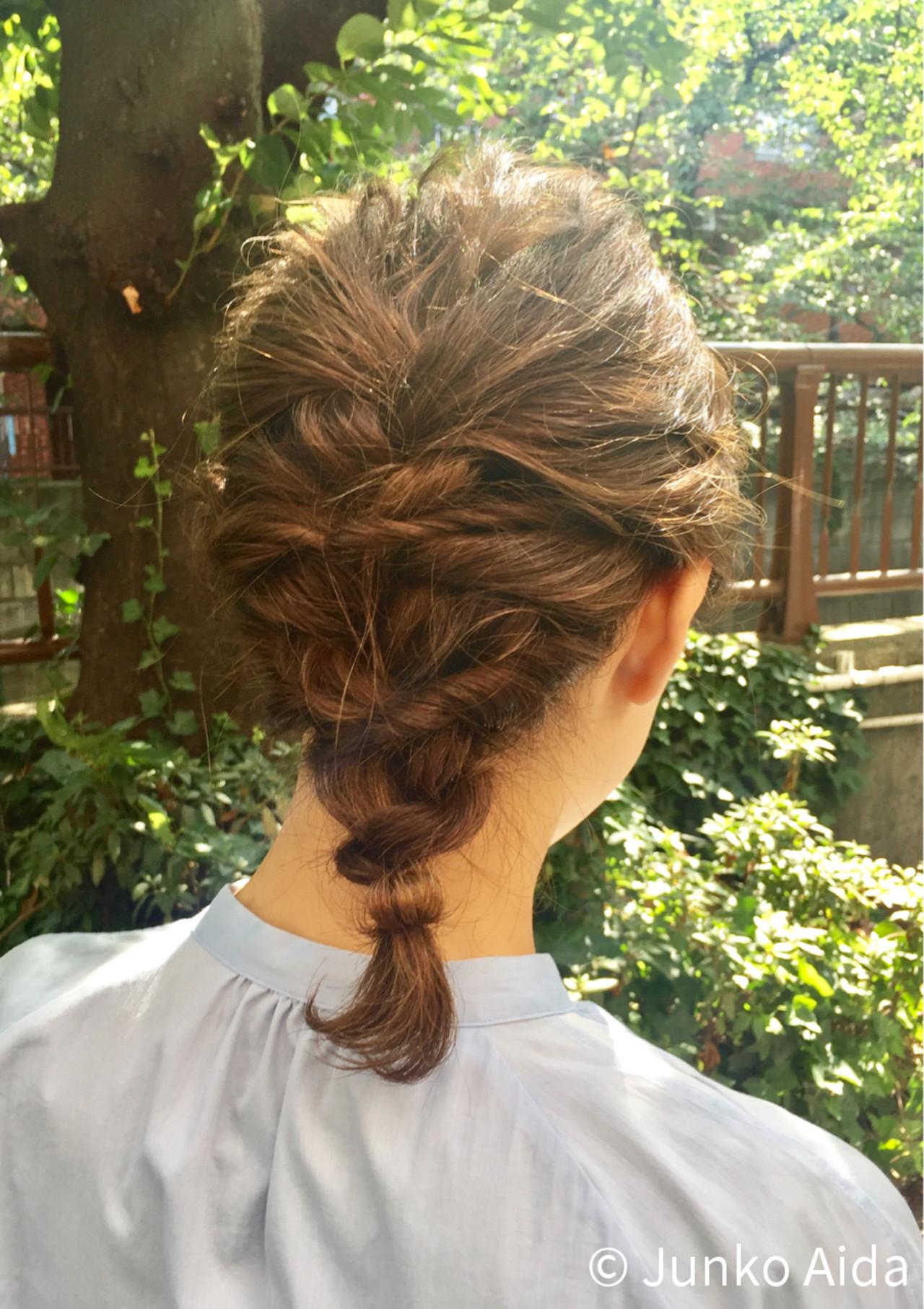 結婚式 ヘアアレンジ ボブ くるりんぱ ヘアスタイルや髪型の写真・画像   Junko Aida / Hair salon Canaria