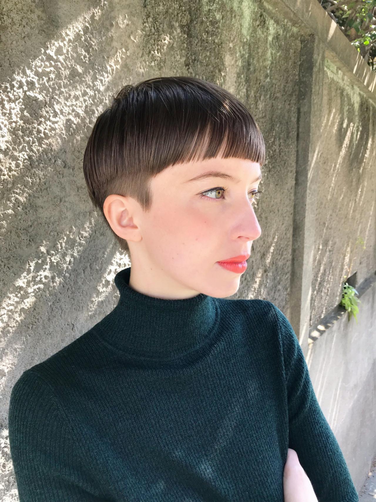 ハンサムショート 刈り上げショート 刈り上げ 刈り上げ女子 ヘアスタイルや髪型の写真・画像