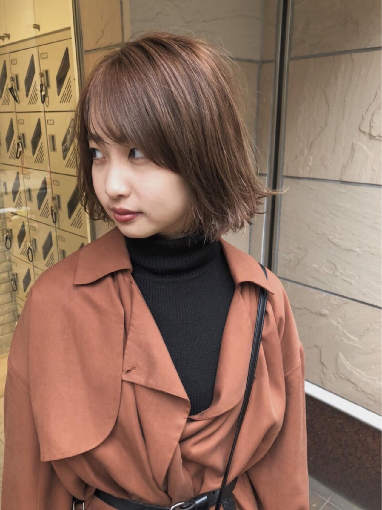 抜け感 ナチュラル 色気 ボブ ヘアスタイルや髪型の写真・画像 | 鈴木 祐一郎 / ZENKO 吉祥寺 Chere