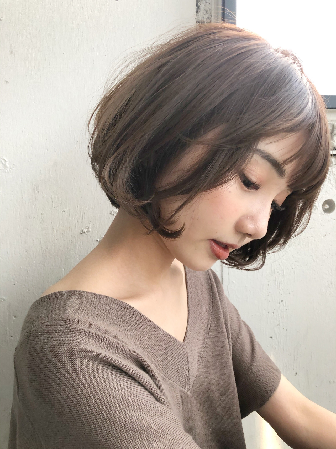 ショートヘア アンニュイほつれヘア ミニボブ ショートボブ ヘアスタイルや髪型の写真・画像