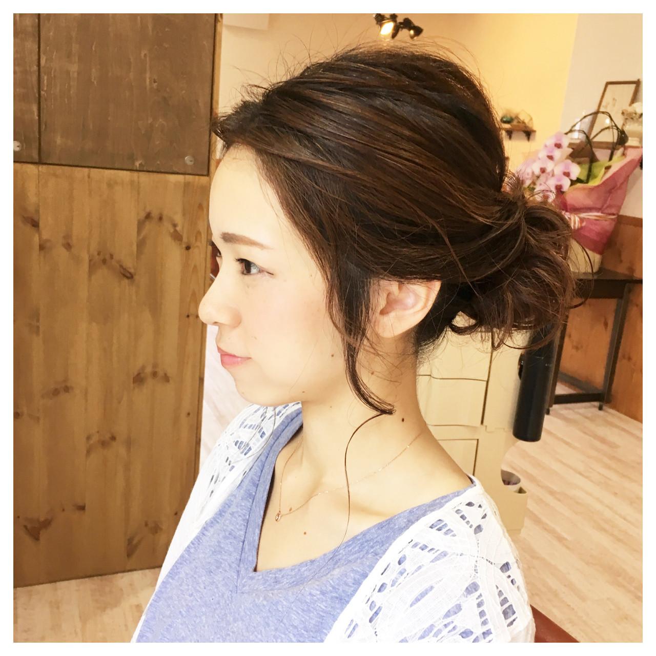 簡単ヘアアレンジ ナチュラル 大人かわいい ヘアアレンジ ヘアスタイルや髪型の写真・画像 | jun / atelier✂︎neru