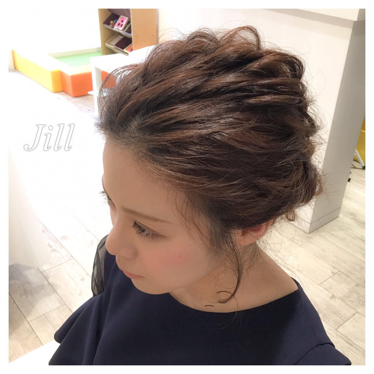 大人かわいい コンサバ セミロング ヘアアレンジ ヘアスタイルや髪型の写真・画像 | 花房 佑典 / Jill / Hair Design Jill