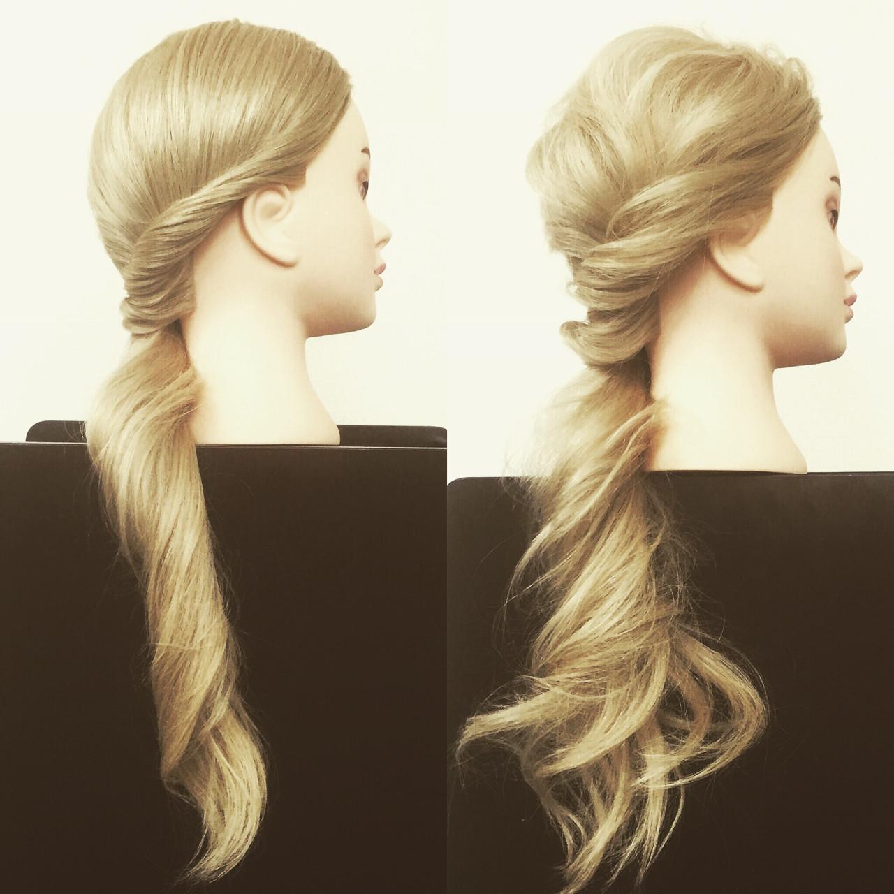 ゆるふわ 簡単ヘアアレンジ ヘアアレンジ ロング ヘアスタイルや髪型の写真・画像 | 佐藤 允美 / Hair Space  ACT  LOCALLY(アクトローカリー)