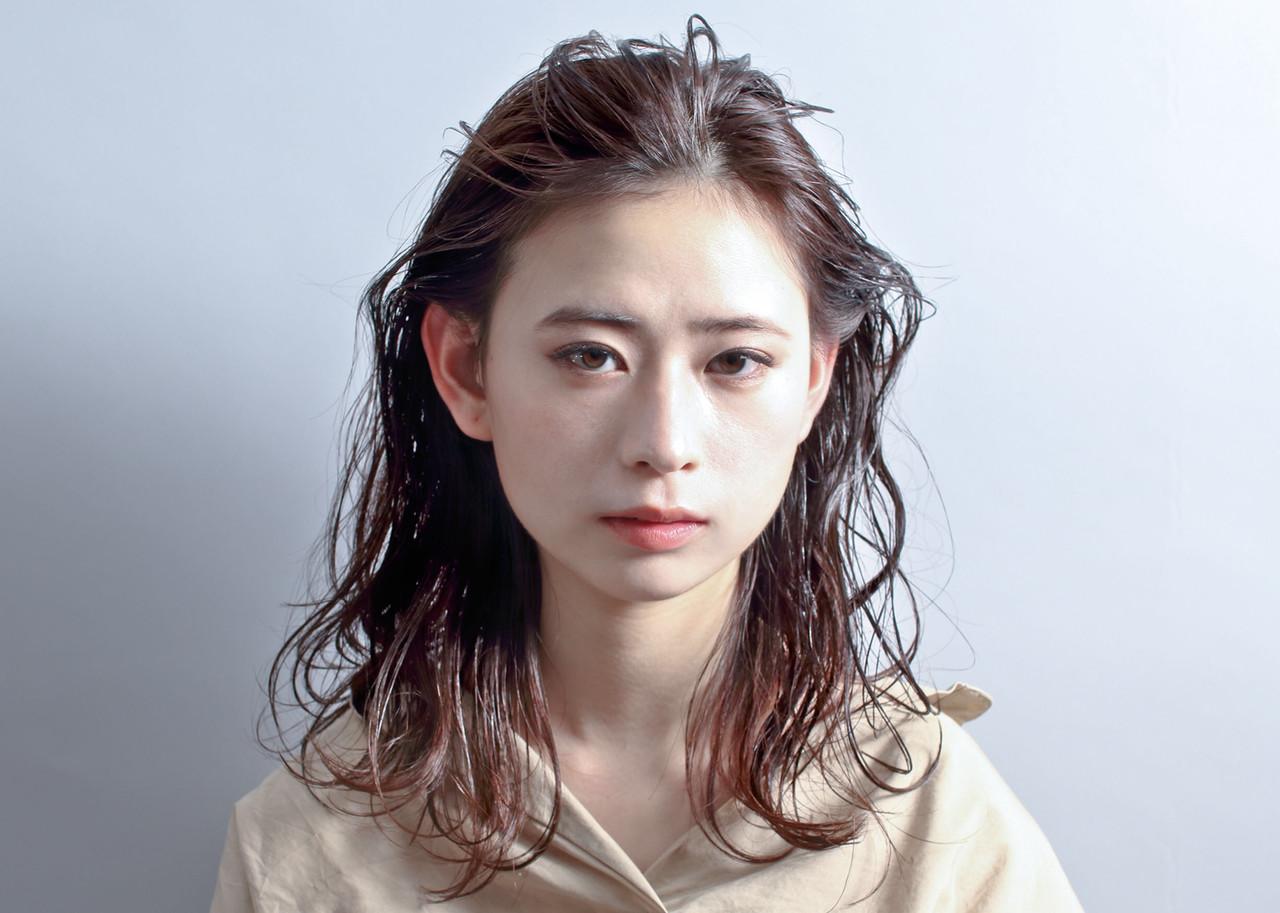 ナチュラル ミディアム ヘアアレンジ パーマ ヘアスタイルや髪型の写真・画像 | 京都/片山 勇馬/ショート / snob