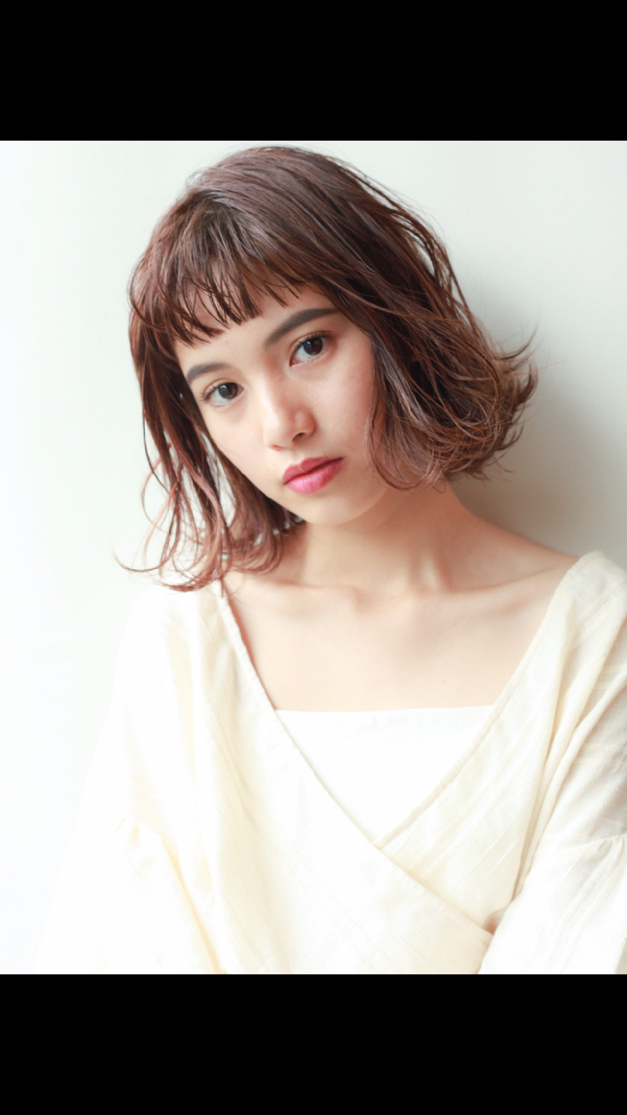 デート アウトドア ガーリー ミディアム ヘアスタイルや髪型の写真・画像   HIROKI / roijir / roijir