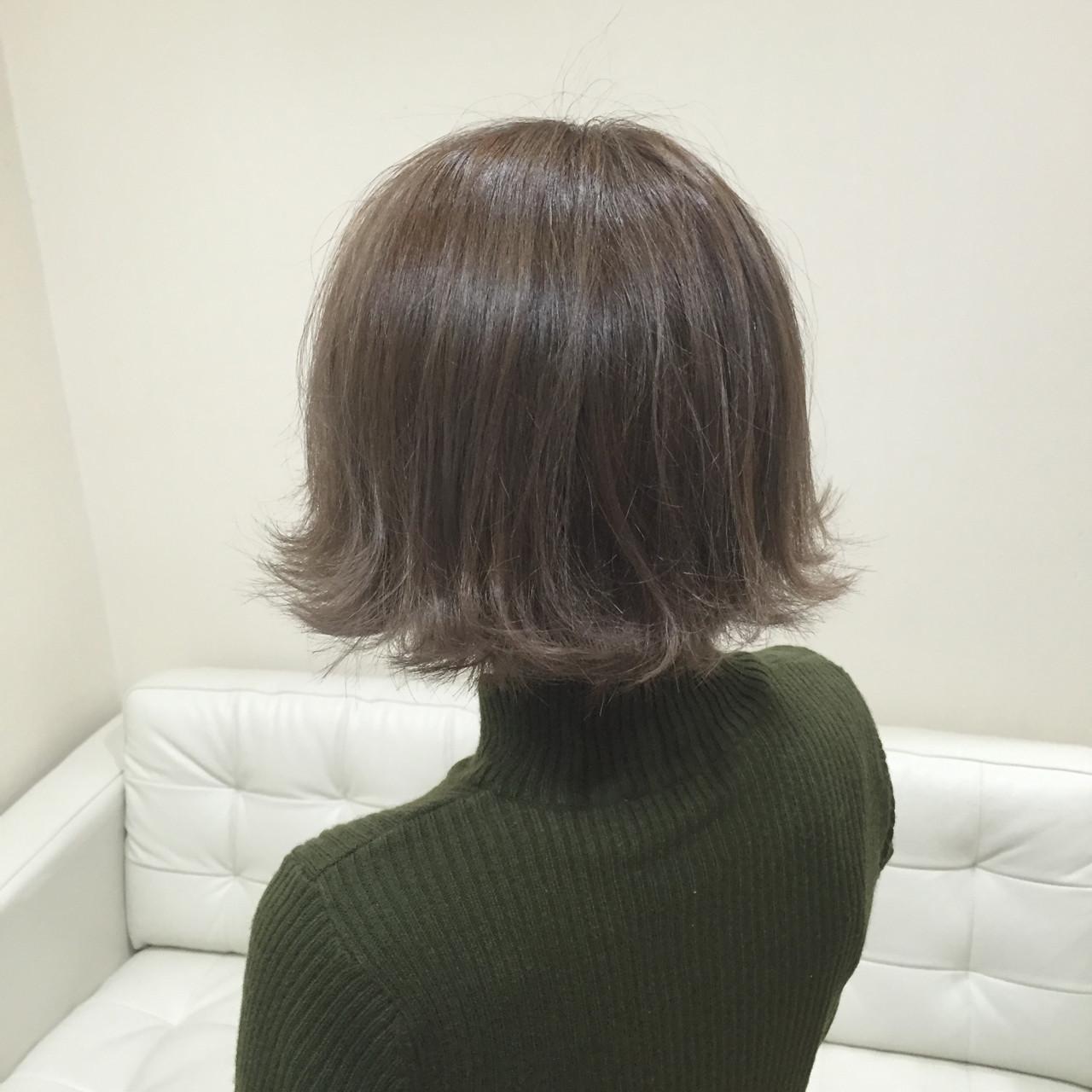 外ハネ ボブ 外国人風 大人かわいい ヘアスタイルや髪型の写真・画像 | seikan / vifkrone hair&beauty