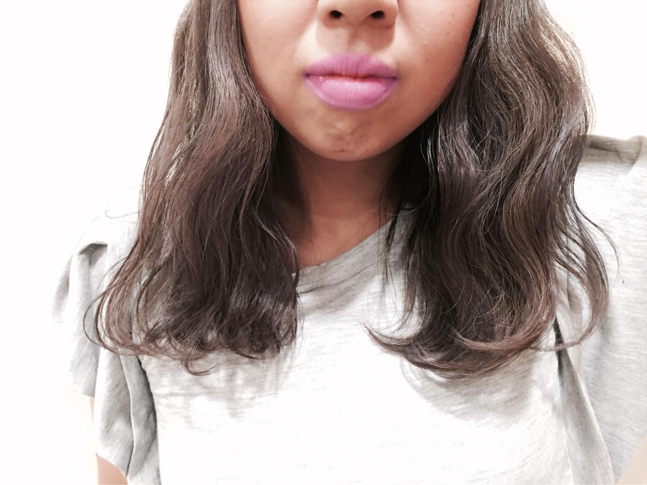 切りっぱなし ストリート 外国人風 ミディアム ヘアスタイルや髪型の写真・画像 | 堂園知里 / hair Mission