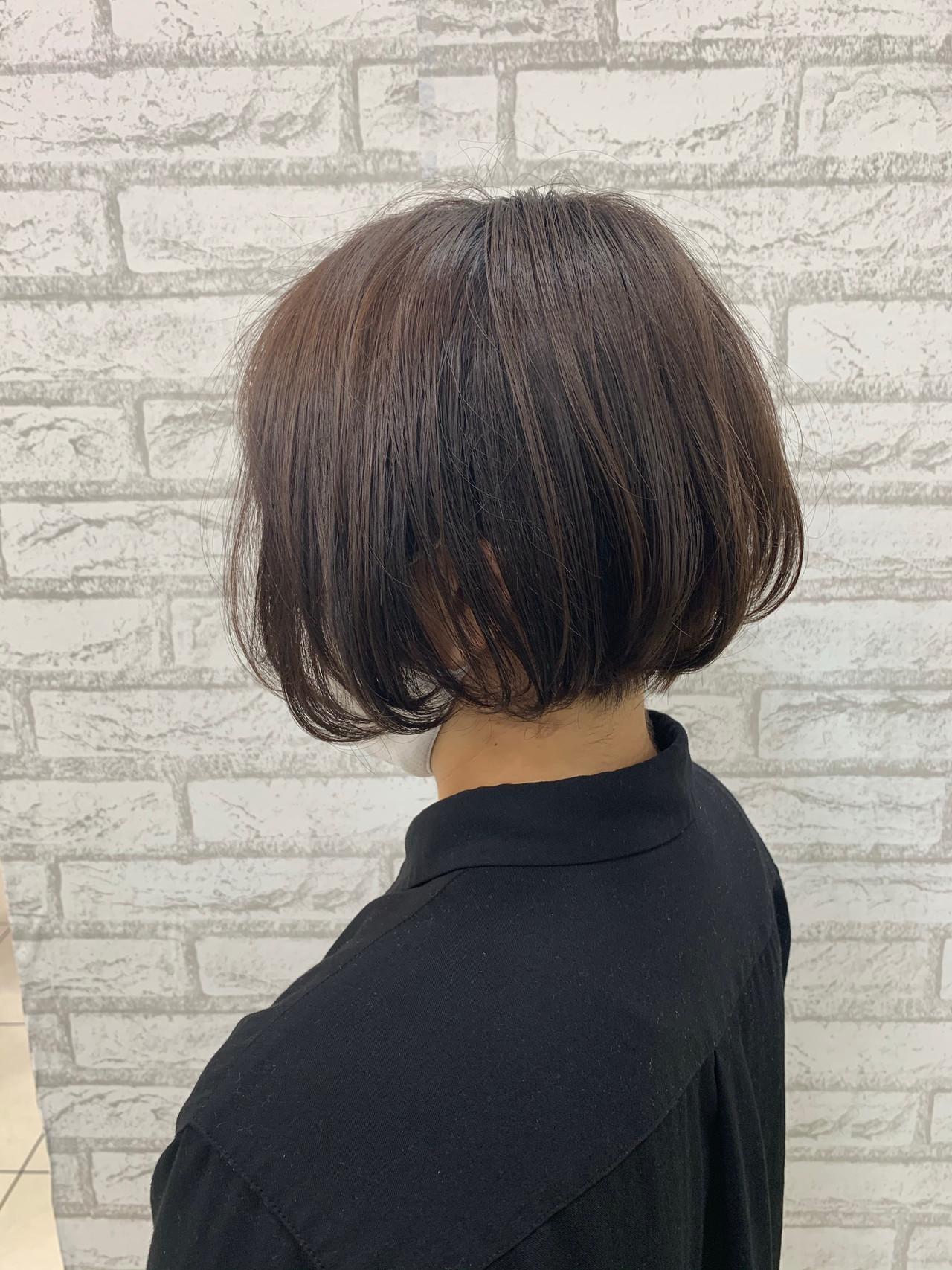 アディクシーカラー ミニボブ ボブ ショートヘアヘアスタイルや髪型の写真・画像