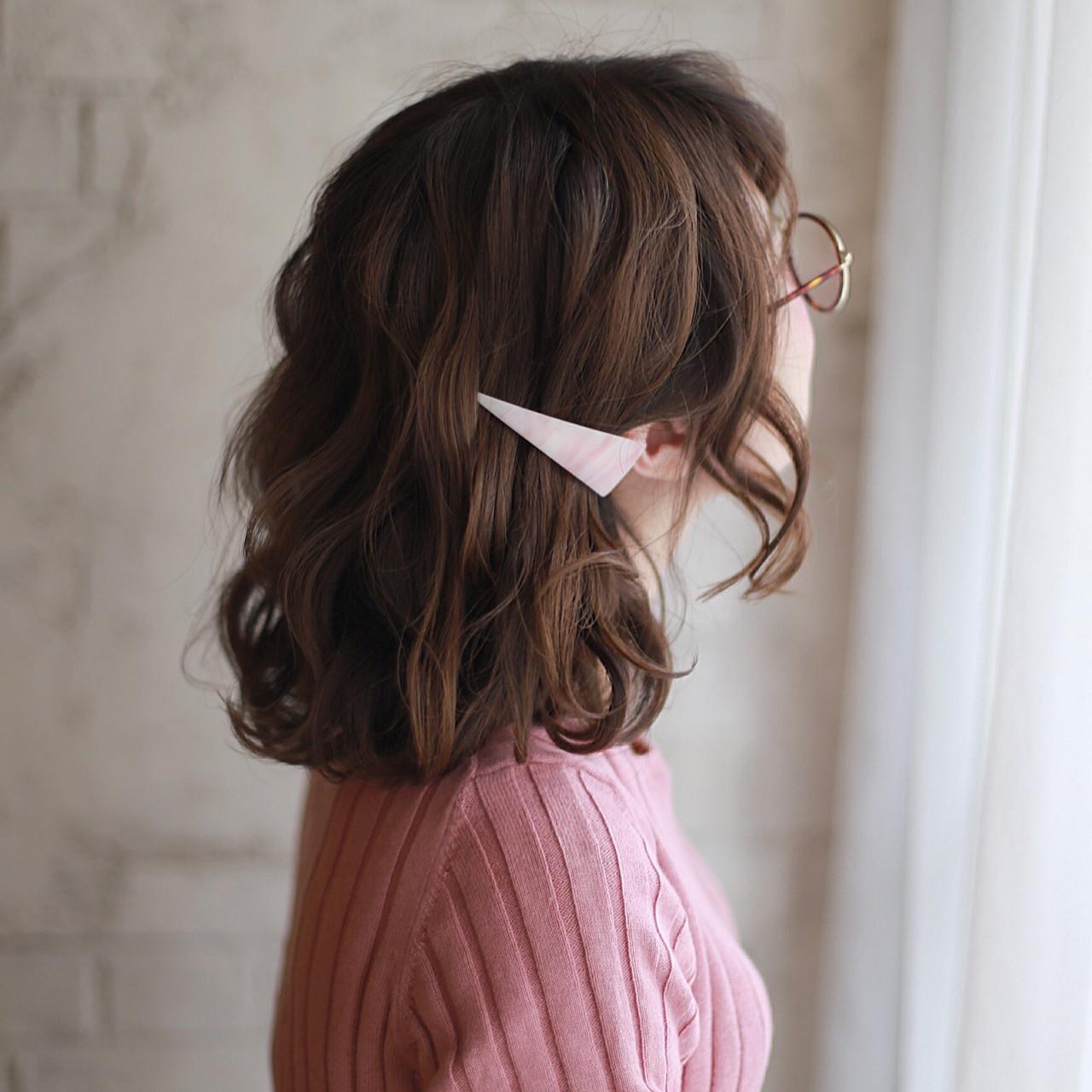 ゆるふわ 簡単ヘアアレンジ ボブ ヘアアレンジ ヘアスタイルや髪型の写真・画像 | 谷本将太 nalu hair / nalu hair  (ナルーヘアー)