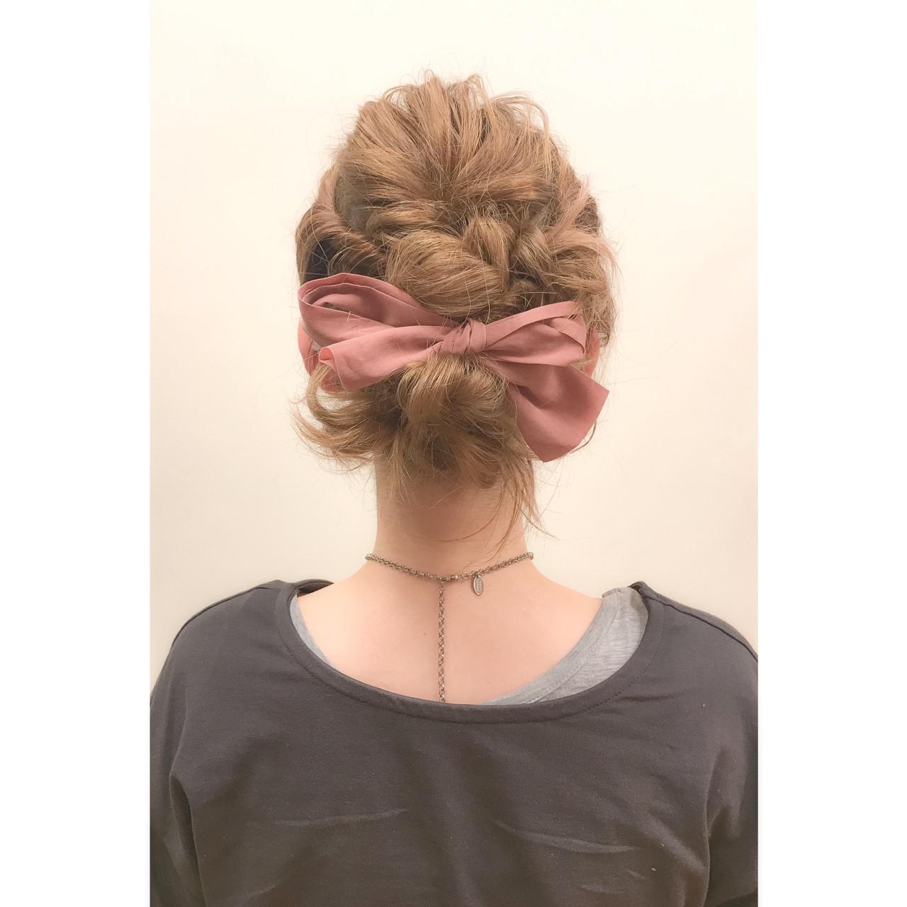 パーティ ショート ガーリー 簡単ヘアアレンジ ヘアスタイルや髪型の写真・画像 | 井手口 倫也 / luve heart's And Be+Eclat
