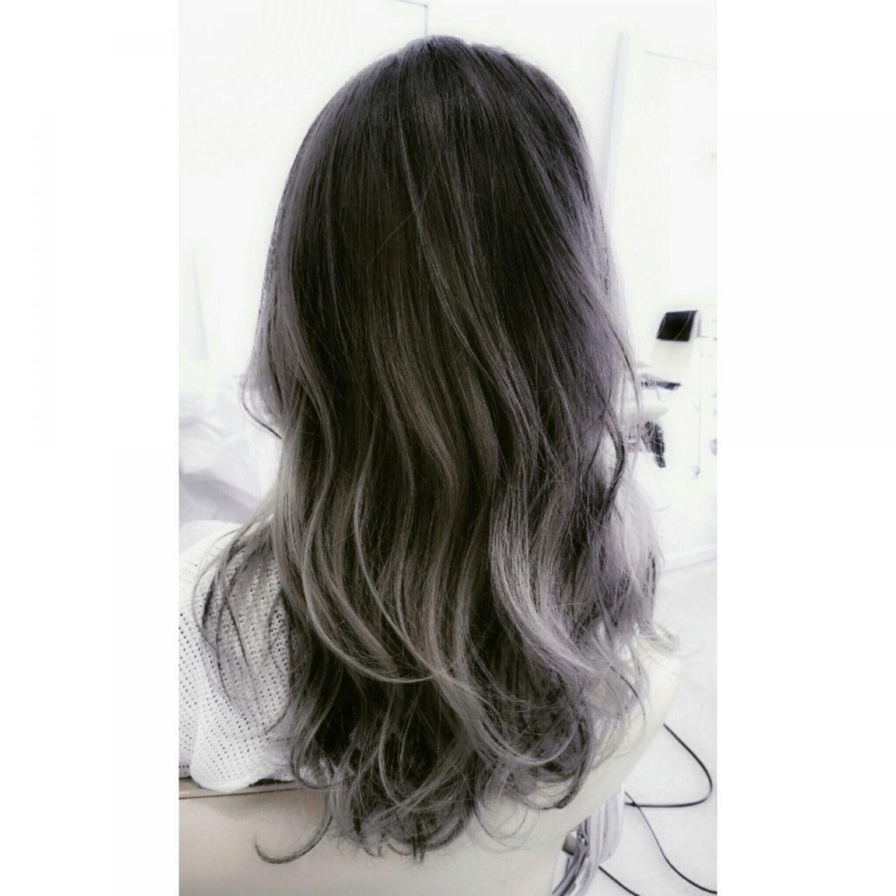 ロング パンク 外国人風 アッシュ ヘアスタイルや髪型の写真・画像 | 白川 知博 / KEYMAN