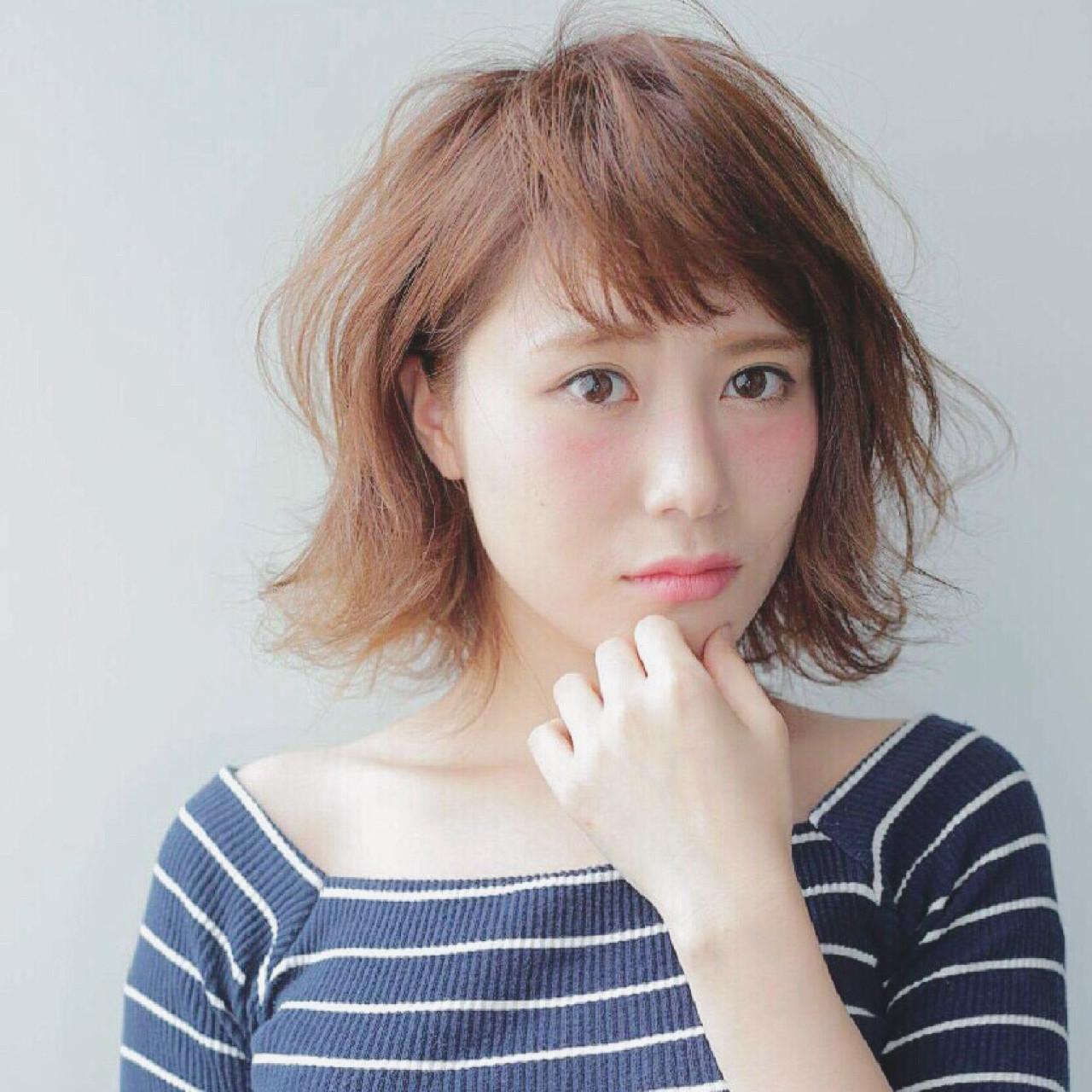 ボブ おフェロ フェミニン ナチュラル ヘアスタイルや髪型の写真・画像   NATSUKI /