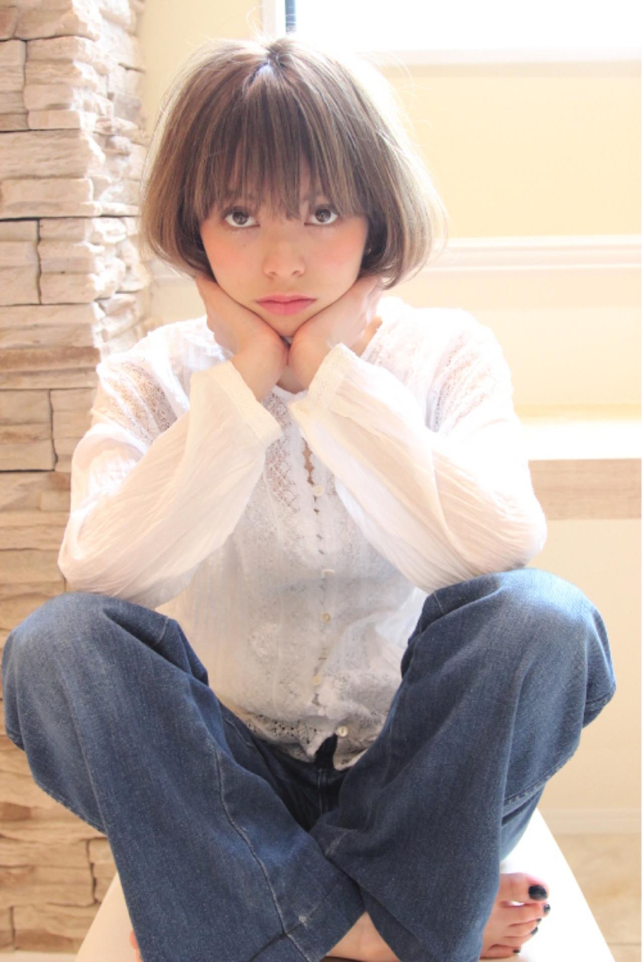 アッシュ グラデーションカラー フェミニン 大人かわいい ヘアスタイルや髪型の写真・画像   Masanori Yamasaki / Reuna(レウナ)