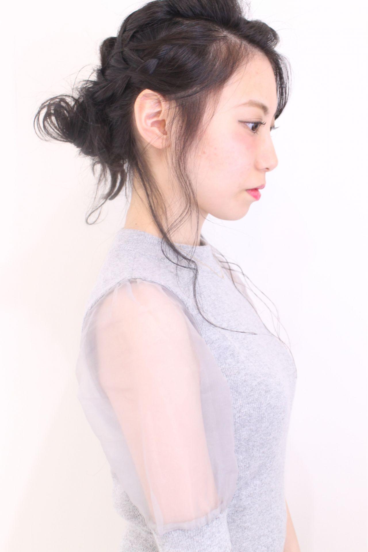 ''後れ毛''でつくる、お色気ヘアアレンジ♡ mina