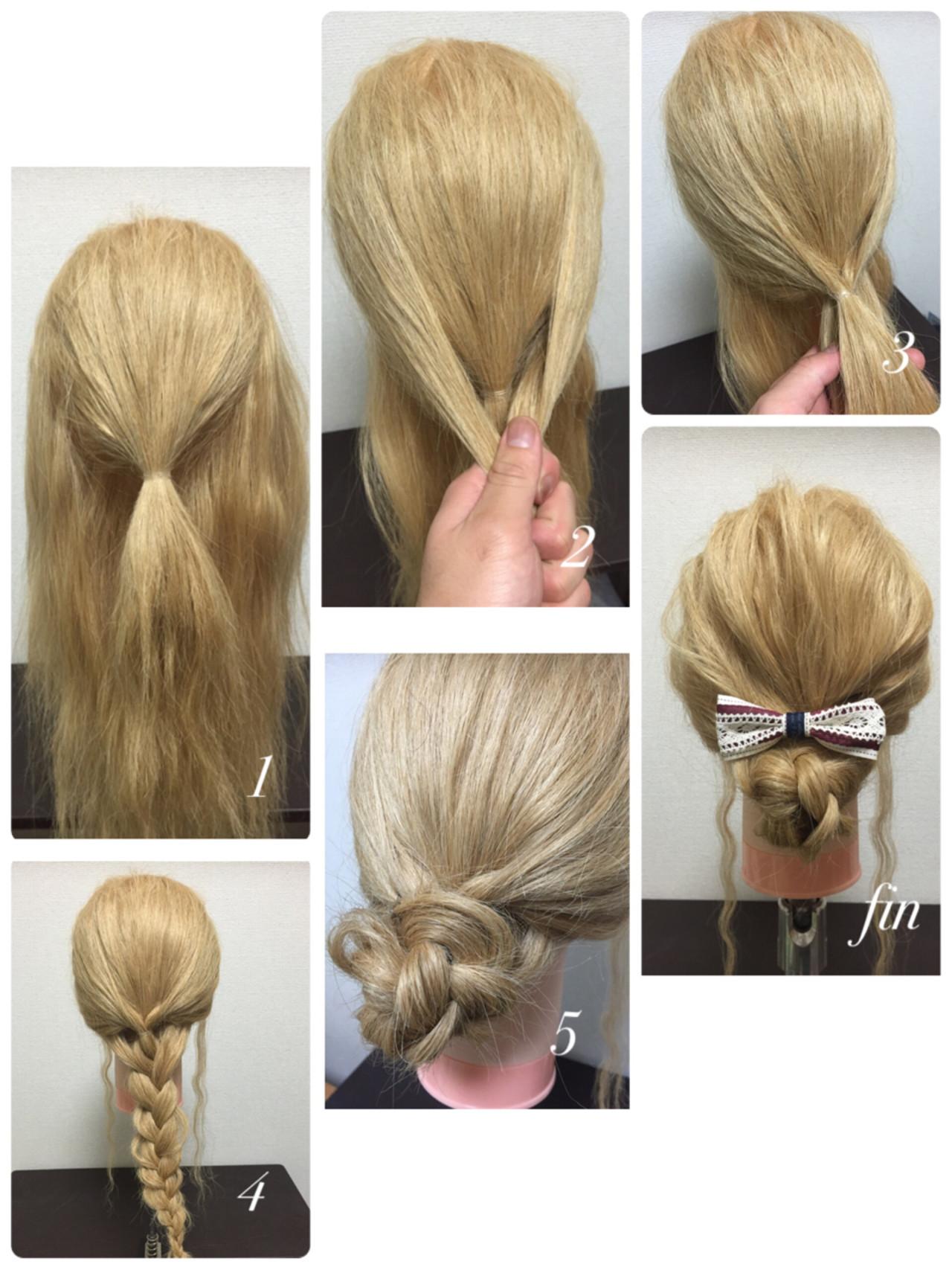 簡単ヘアアレンジ ゆるふわ ショート ロングヘアスタイルや髪型の写真・画像