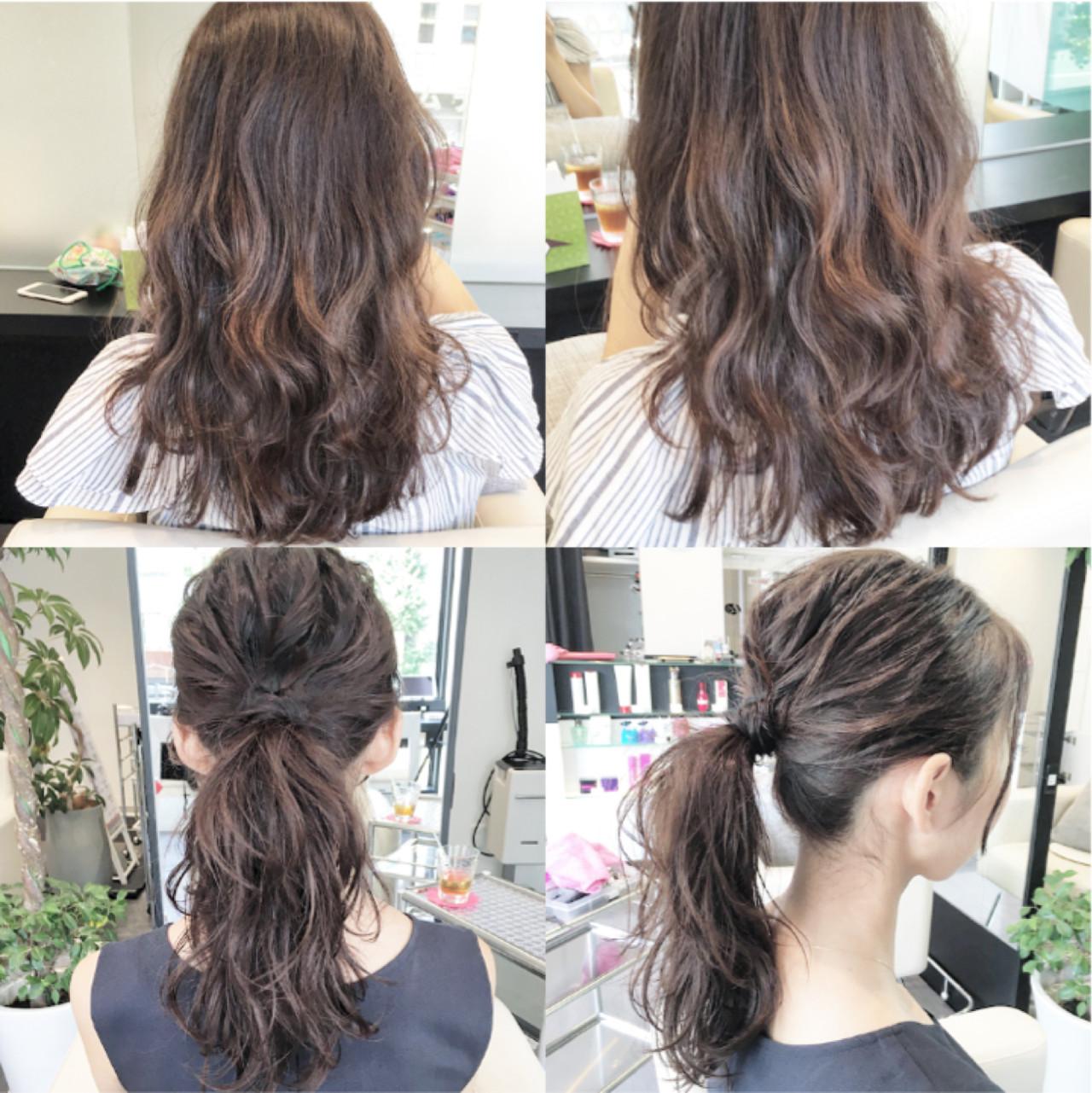 まとめ髪 コンサバ 簡単 セミロングヘアスタイルや髪型の写真・画像