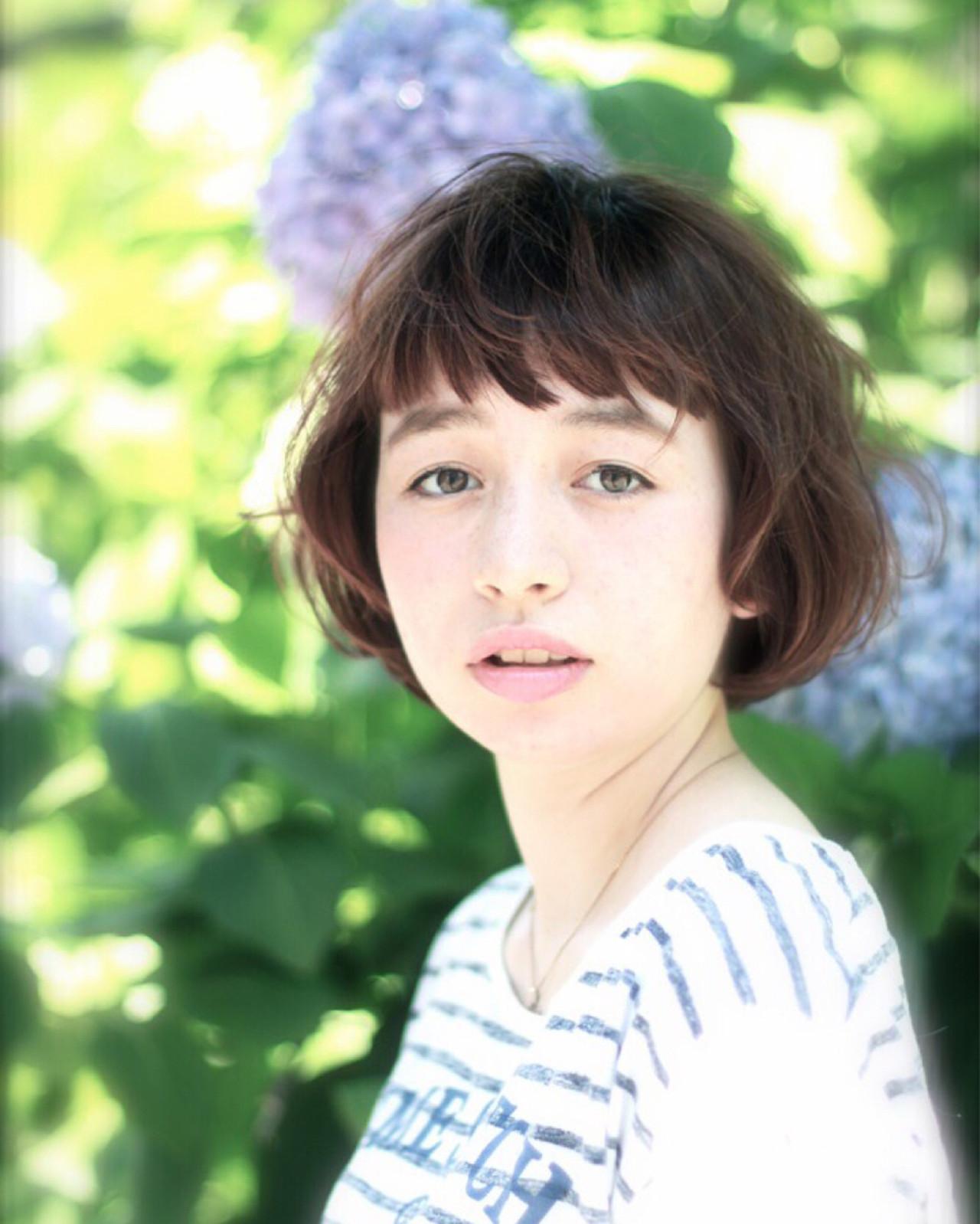 ピュア ボブ 色気 ショート ヘアスタイルや髪型の写真・画像   菅 孝太郎 / andrey