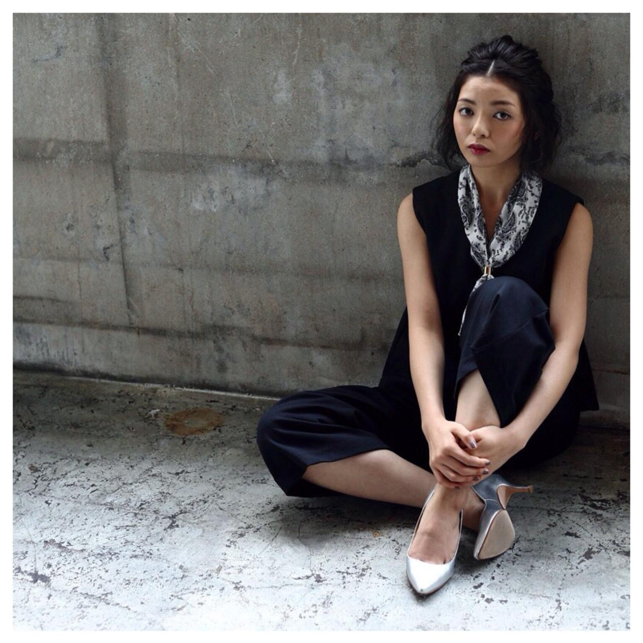 ヘアアレンジ ハーフアップ 大人女子 ショート ヘアスタイルや髪型の写真・画像 | 細谷真衣子 / SUGIMOTO河辺店