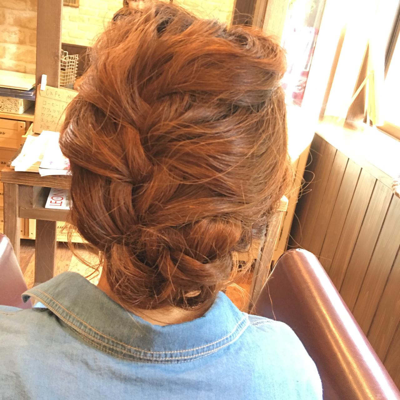 ナチュラル 簡単ヘアアレンジ 大人かわいい ミディアム ヘアスタイルや髪型の写真・画像 | miho nagaya / hair salon LE'A
