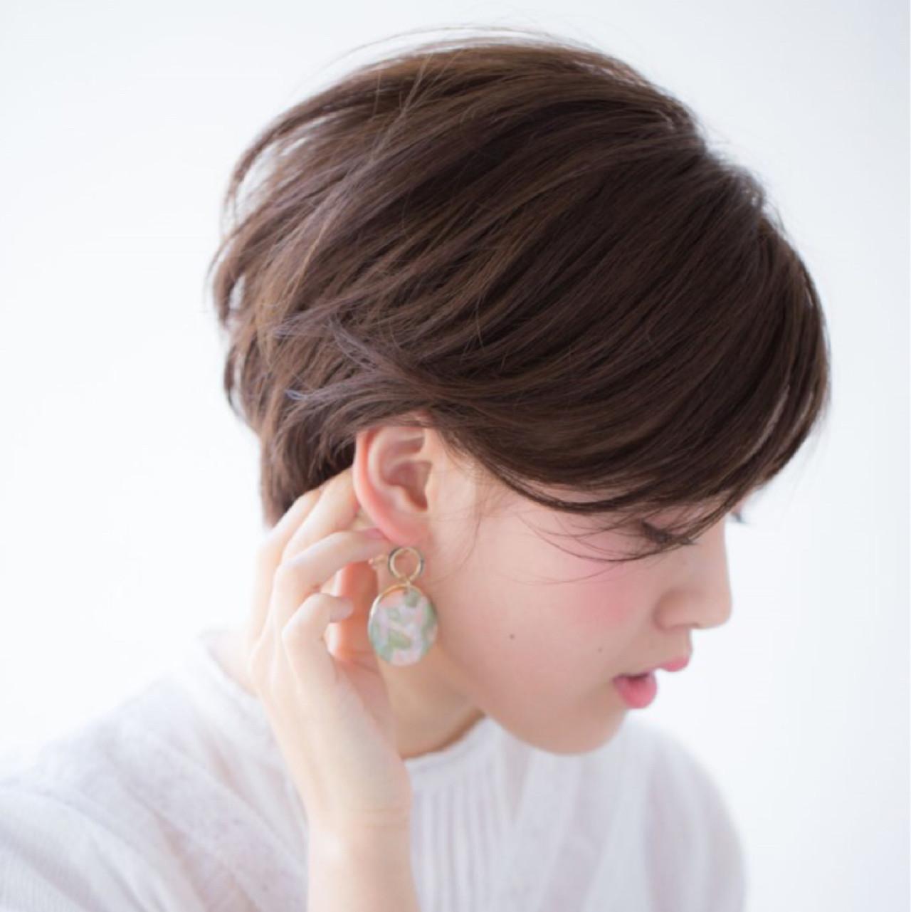大人女子 こなれ感 前髪あり ショート ヘアスタイルや髪型の写真・画像 | NAOMI / Ramie