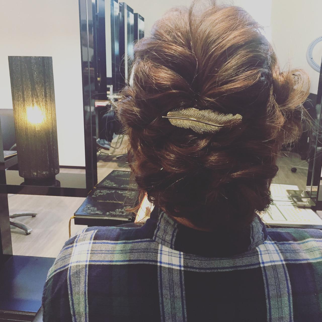 パーティ ヘアアレンジ 結婚式 二次会ヘアスタイルや髪型の写真・画像
