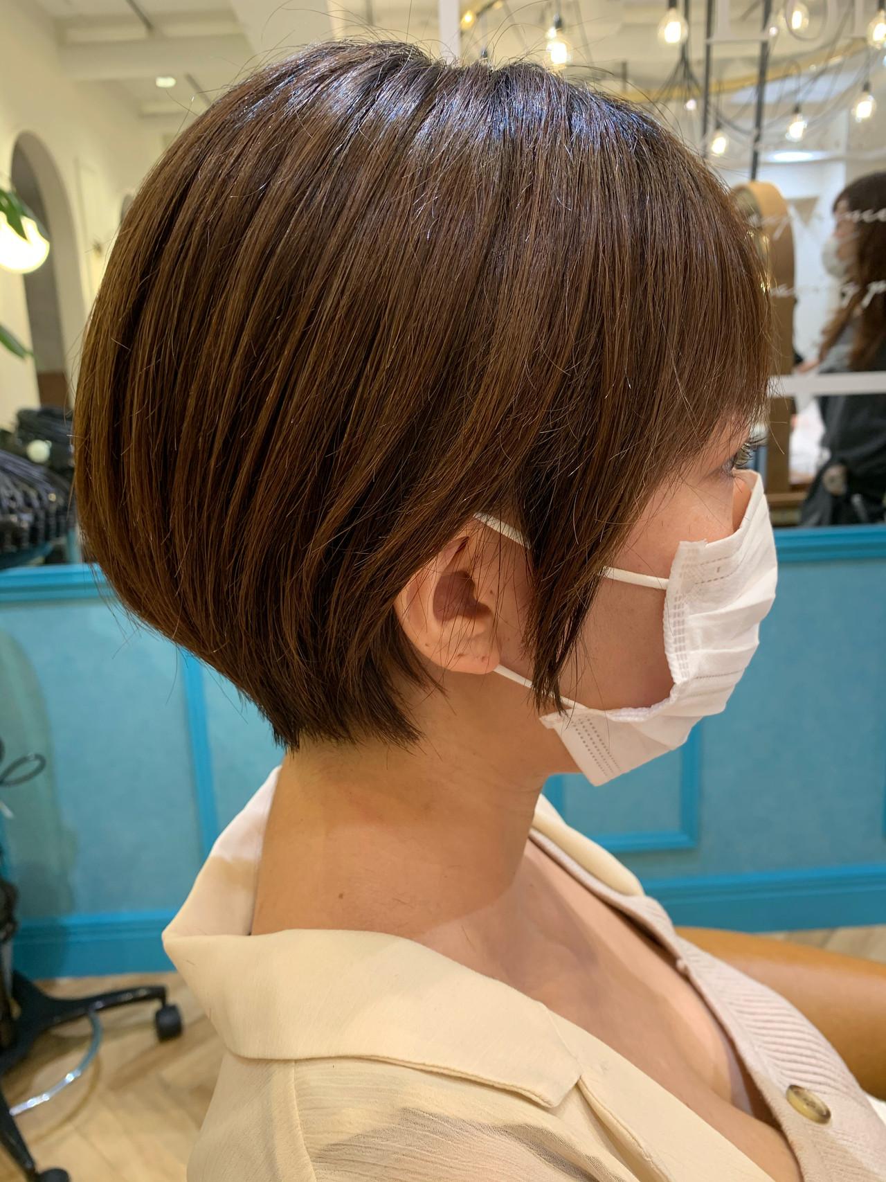 ショートボブ ショート ナチュラル ショートヘア ヘアスタイルや髪型の写真・画像 | 山口 健太 / Lond ange