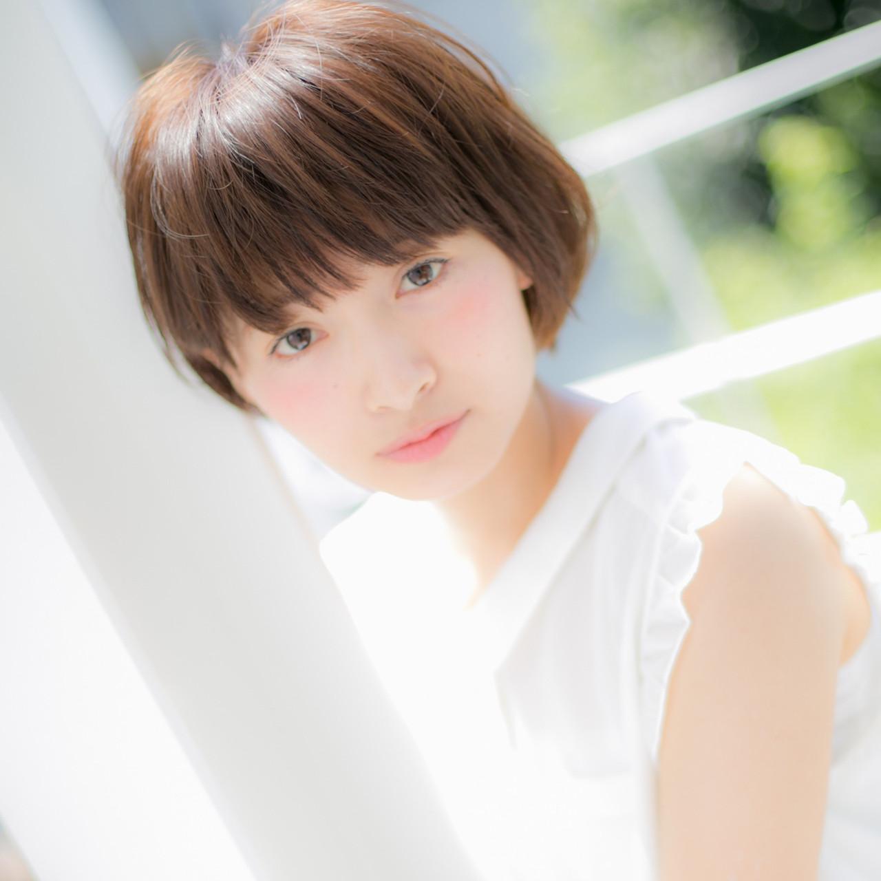 ミニボブ 小顔ヘア 小顔 大人かわいい ヘアスタイルや髪型の写真・画像   宮川好江 / Euphoria SHIBUYA GRANDE