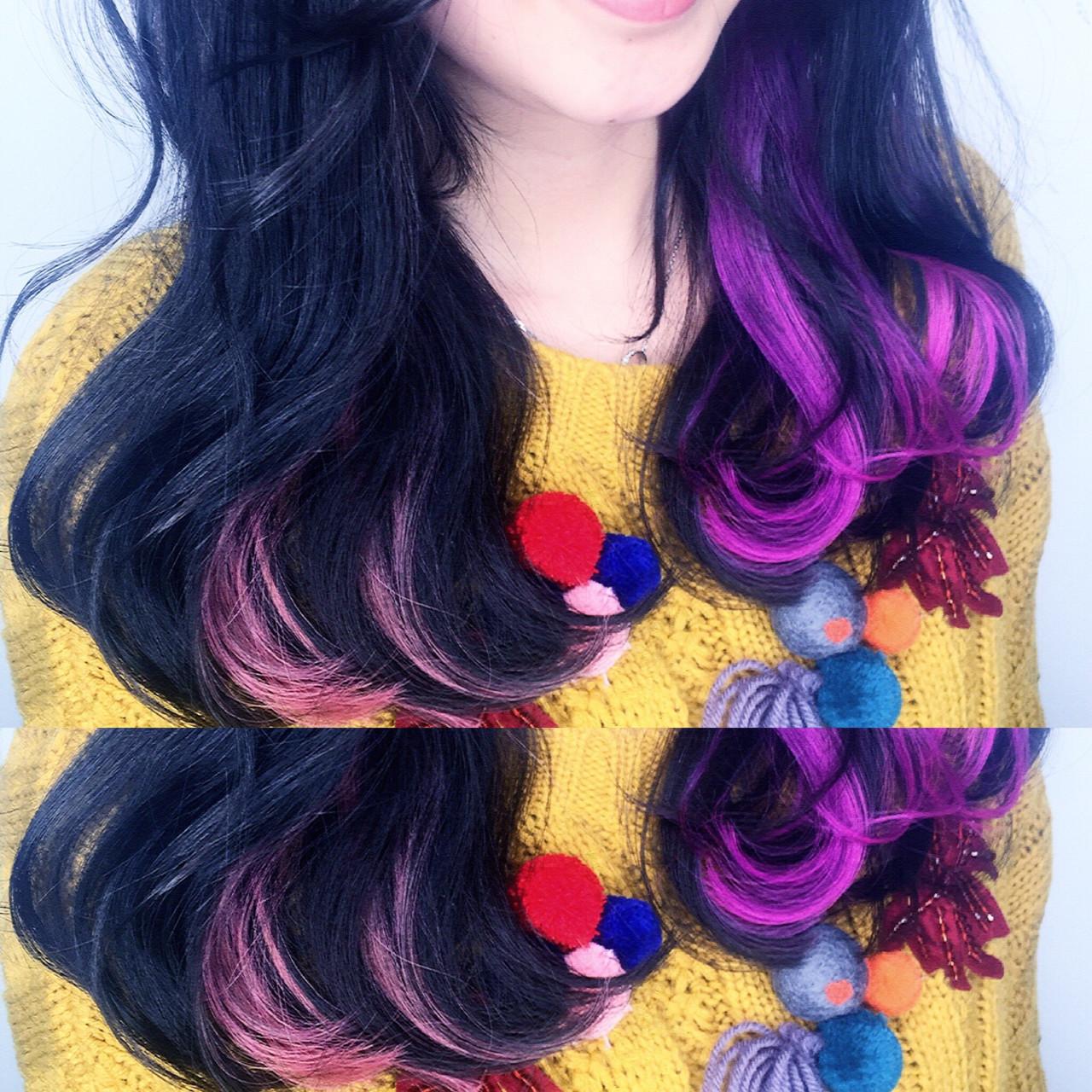 ミディアム 渋谷系 グラデーションカラー ガーリー ヘアスタイルや髪型の写真・画像   筒井 隆由 / Hair salon mode