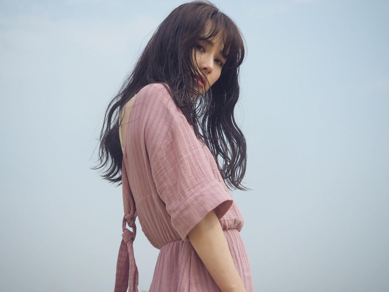ロング デート ウェットヘア 小顔 ヘアスタイルや髪型の写真・画像 | 桃子 / SKbeauty&essex