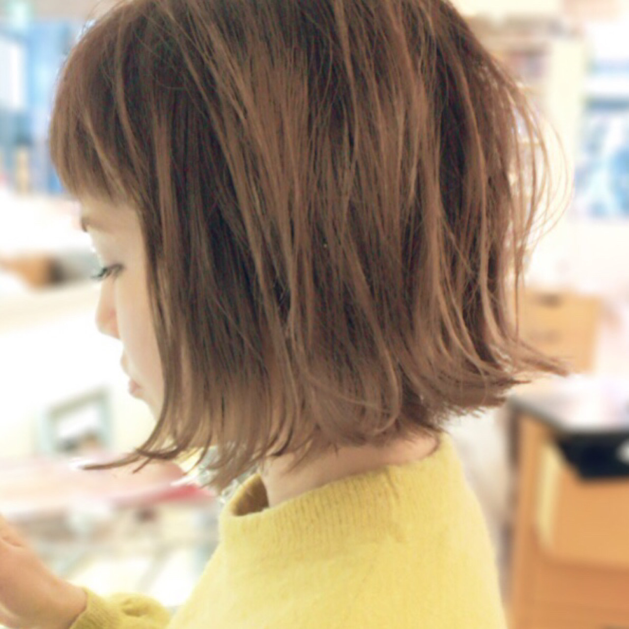 ショート ナチュラル 外国人風カラー 外ハネ ヘアスタイルや髪型の写真・画像   イマムラ スナオ / LUKE