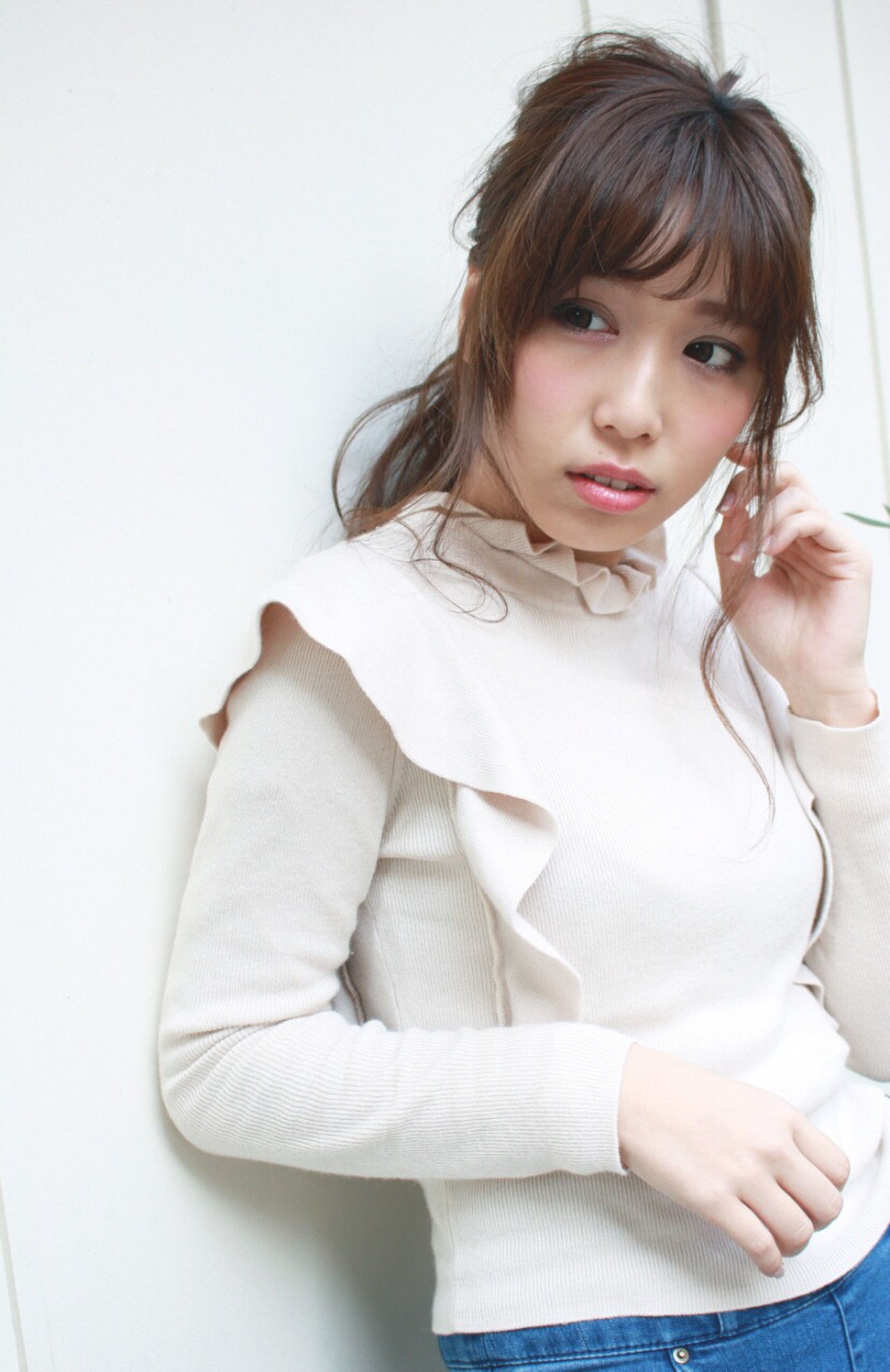 簡単ヘアアレンジ ポニーテール グレージュ ヘアアレンジ ヘアスタイルや髪型の写真・画像   【Rejouir金山店】光沙 / Rejouir (Nagoya)